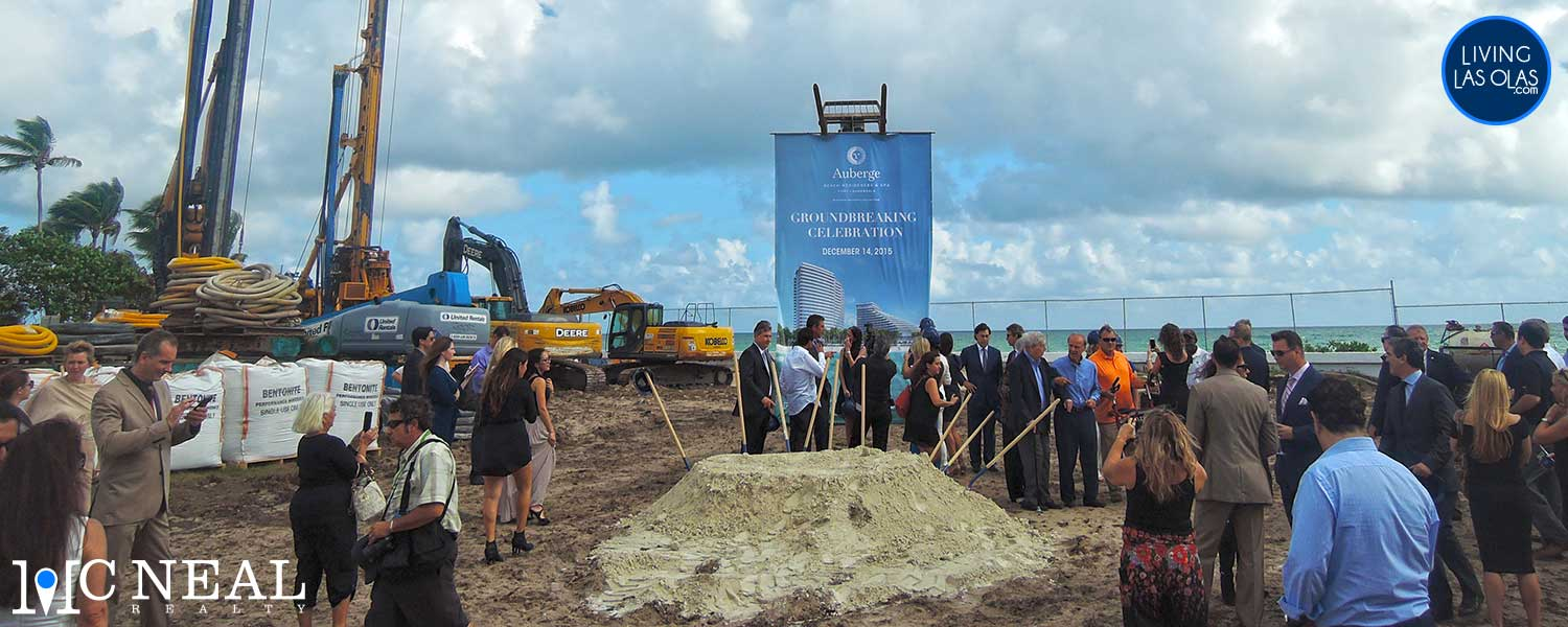 Auberge Beach Ground Breaking Hero