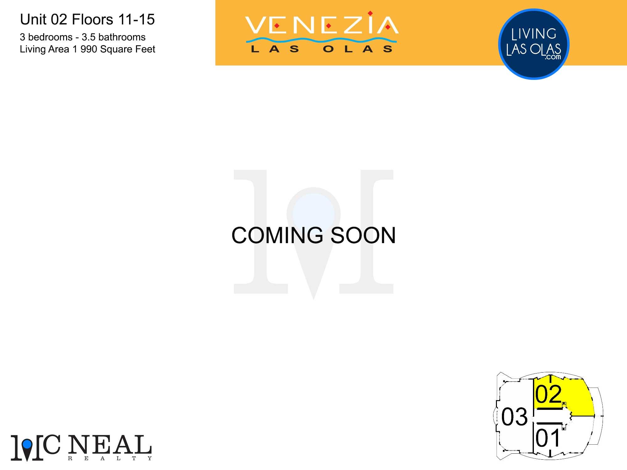 Venezia Las Olas Floor Plans 11-15 Unit 2