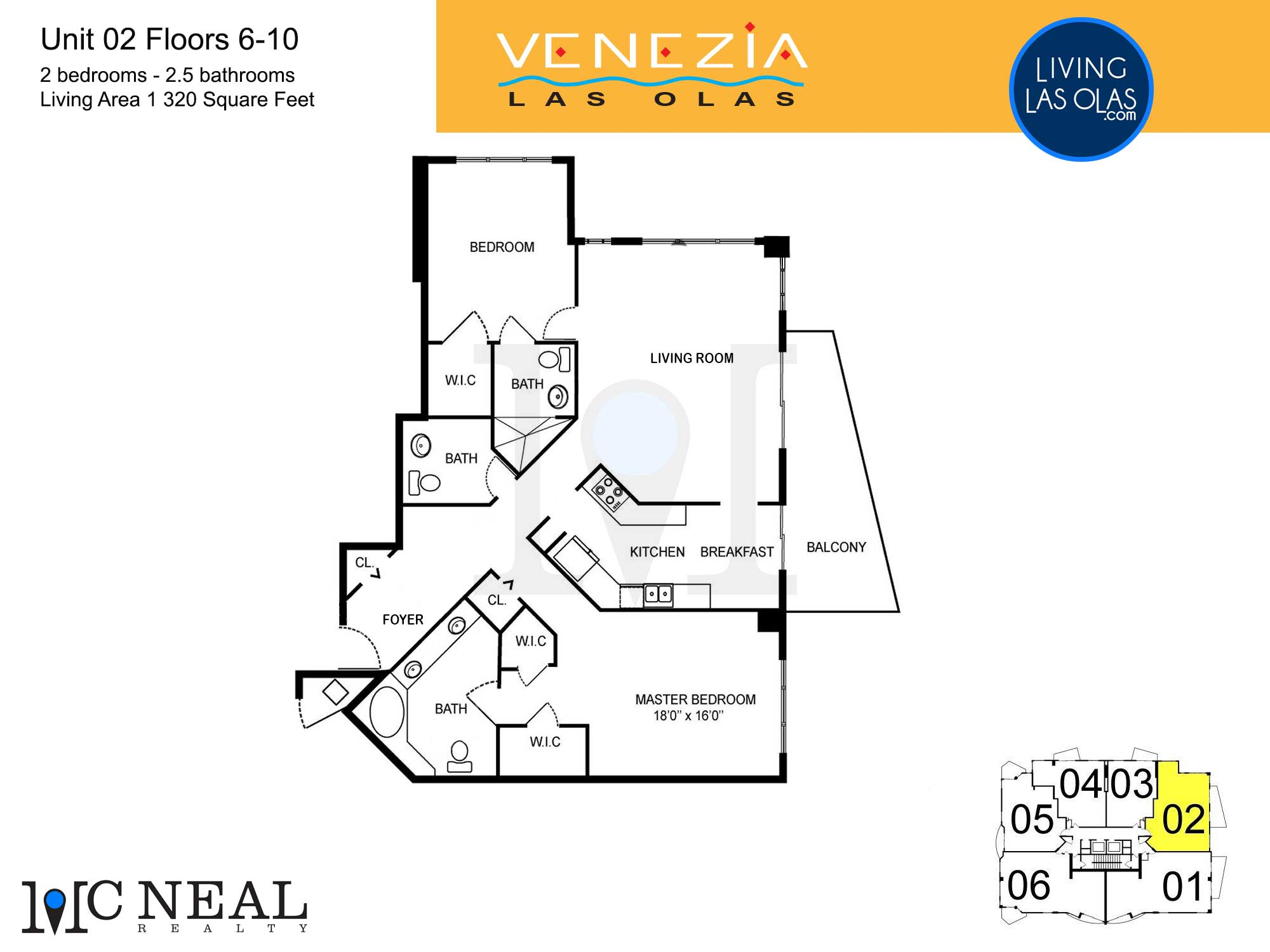 Venezia Las Olas Floor Plans 5-10 Unit 2