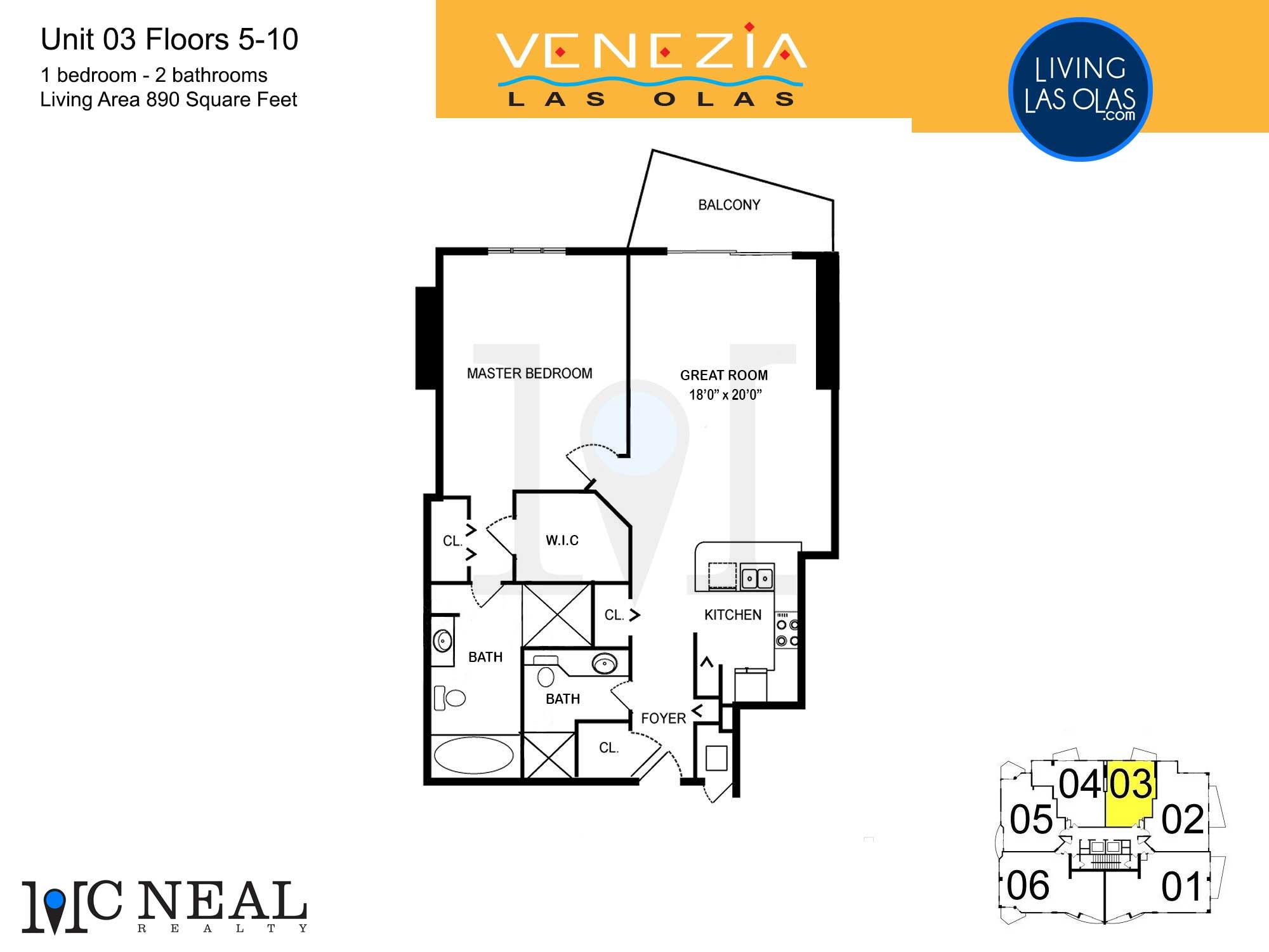 Venezia Las Olas Floor Plans 5-10 Unit 3
