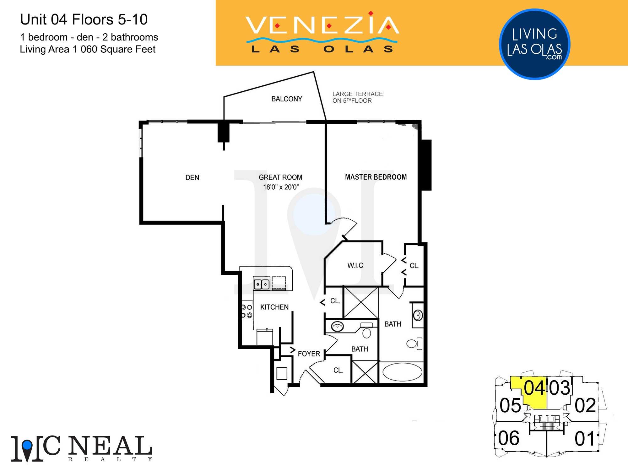 Venezia Las Olas Floor Plans 5-10 Unit 4
