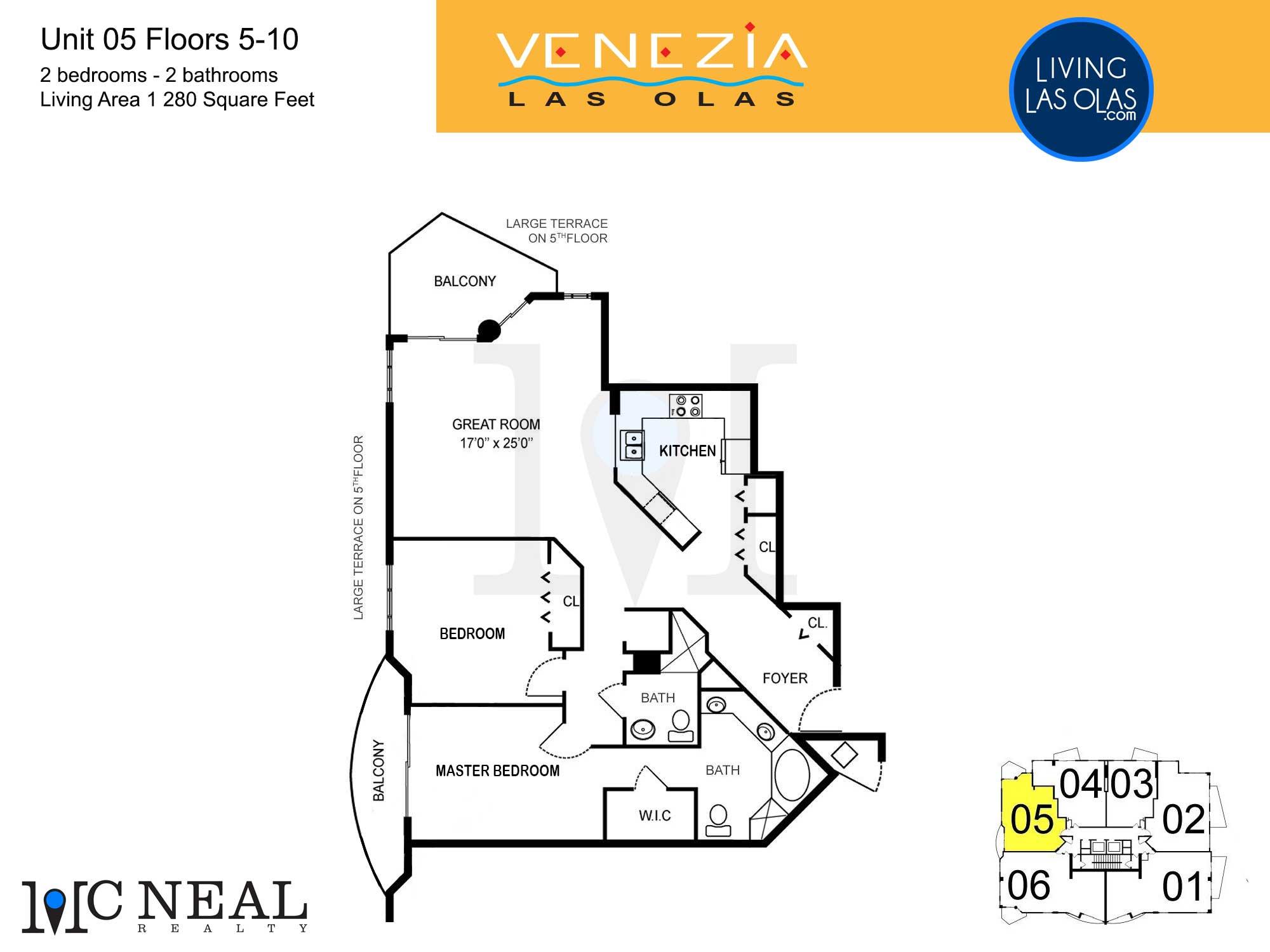Venezia Las Olas Floor Plans 5-10 Unit 5