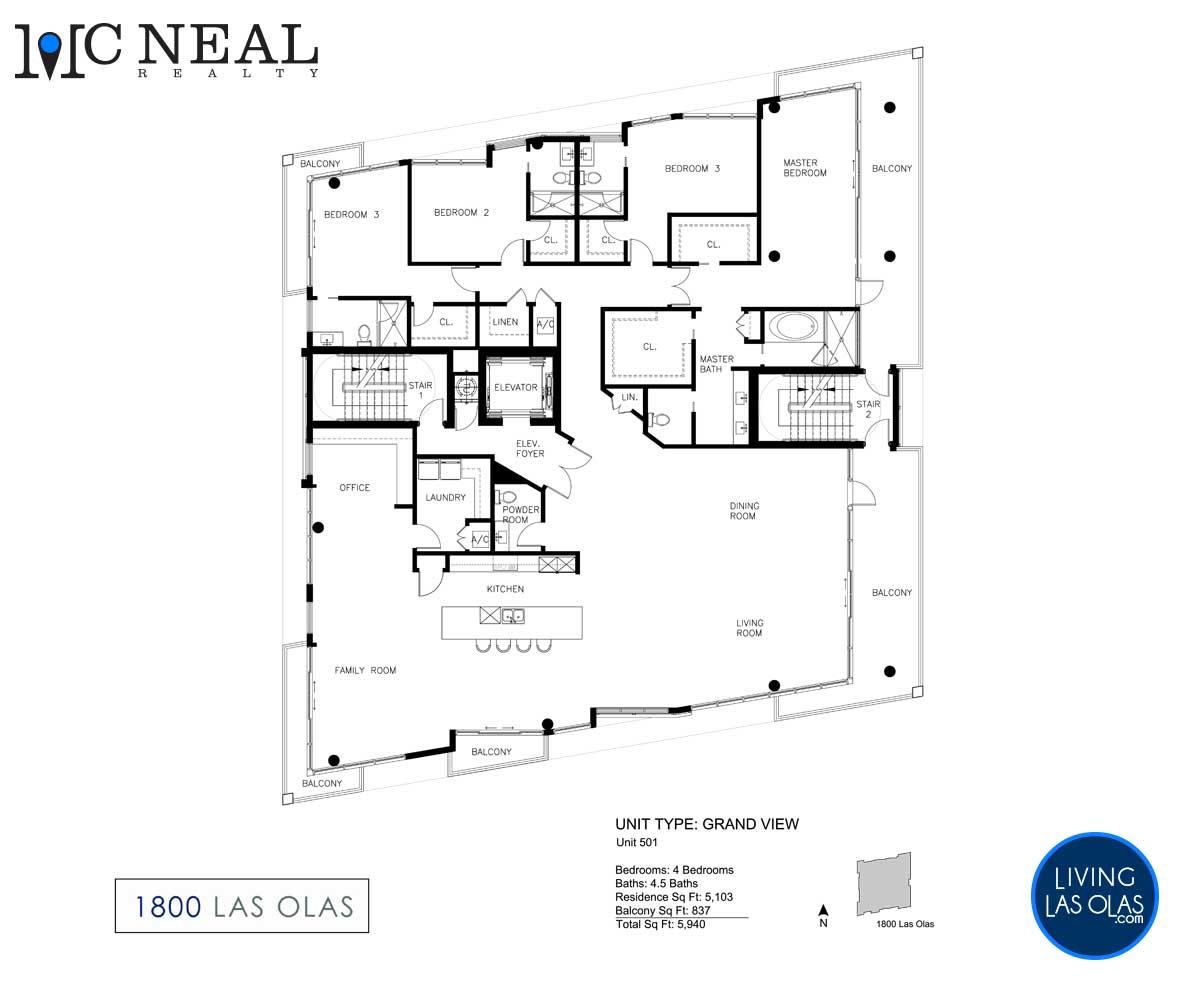 1800 Las Olas Condos Floor Plan 01