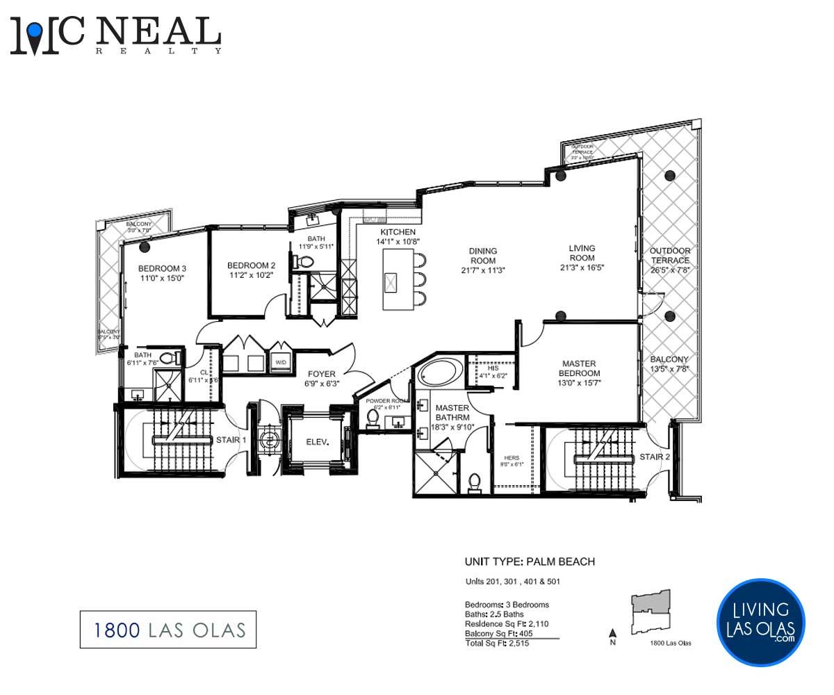 1800 Las Olas Condos Floor Plan 02