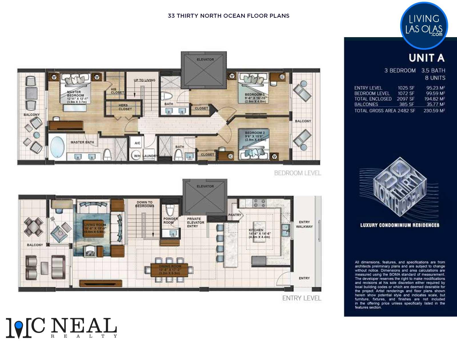 30 Thirty North Ocean Condos Floor Plan A