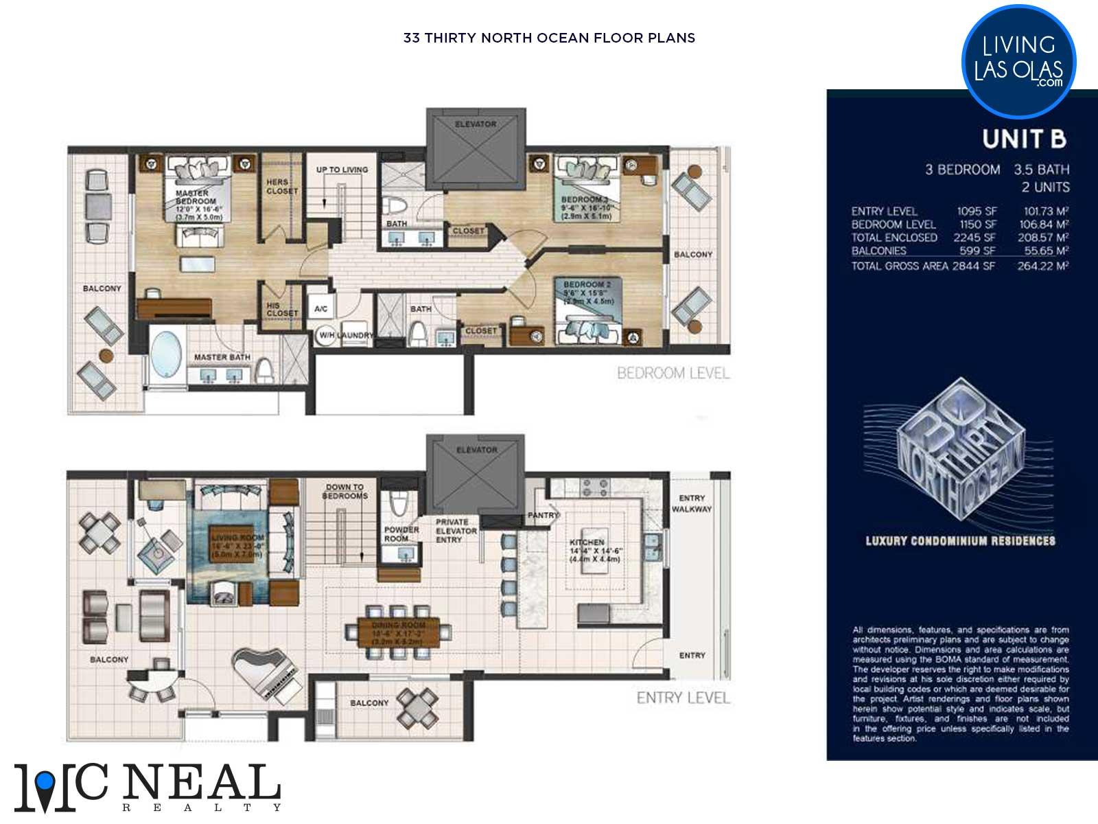 30 Thirty North Ocean Condos Floor Plan B