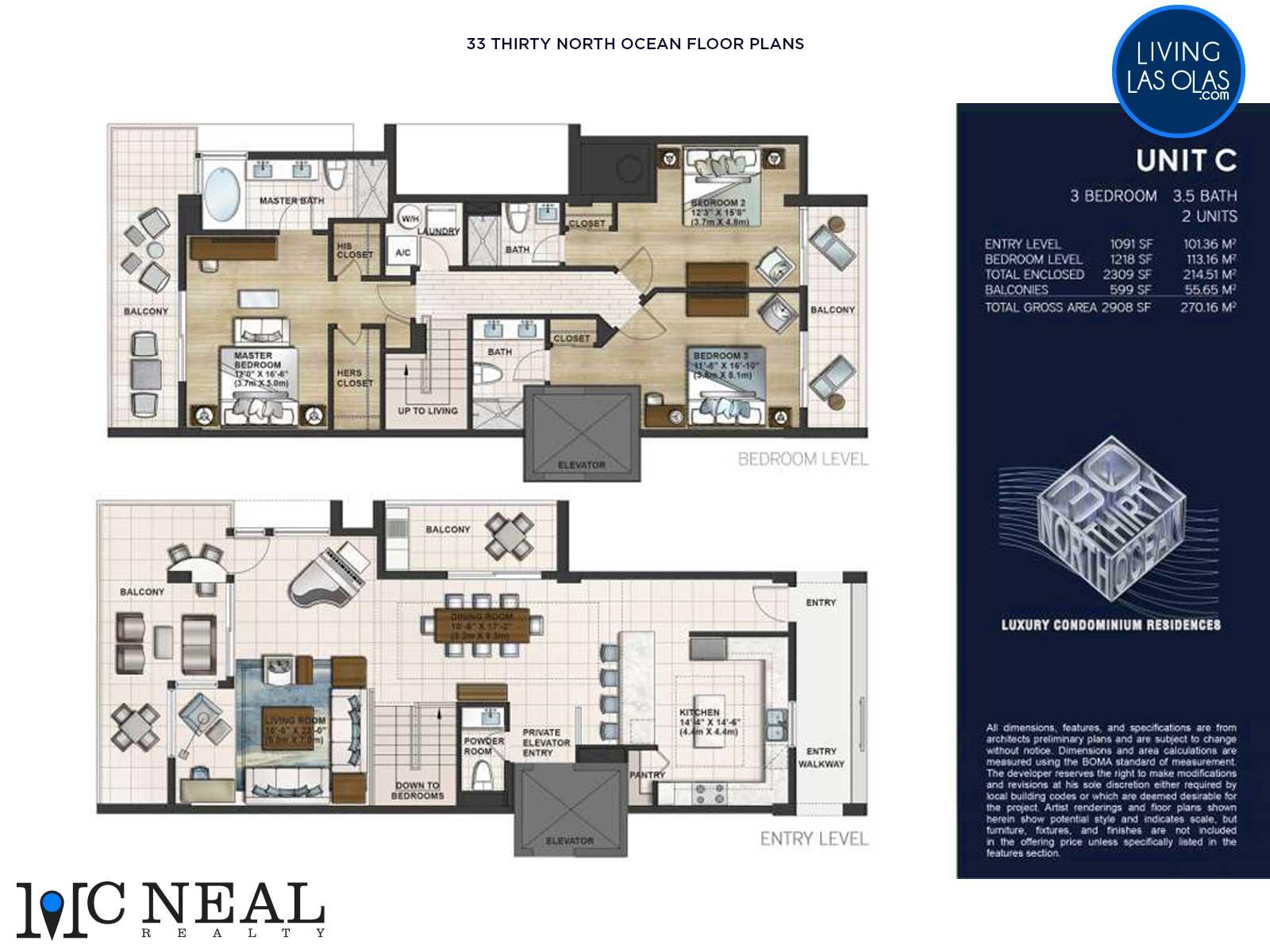 30 Thirty North Ocean Condos Floor Plan C