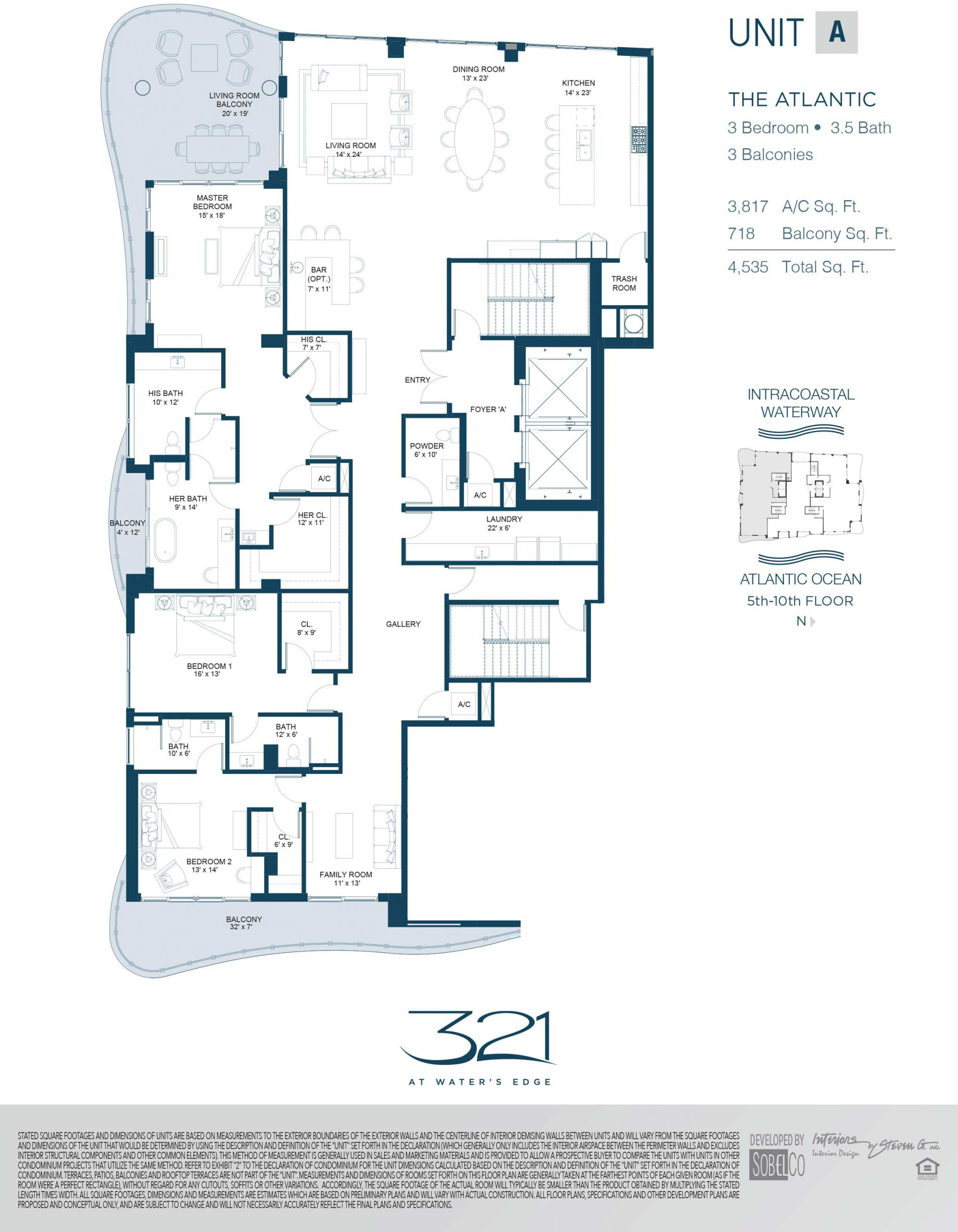 321 At Waters Edge Floor Plans Unit A