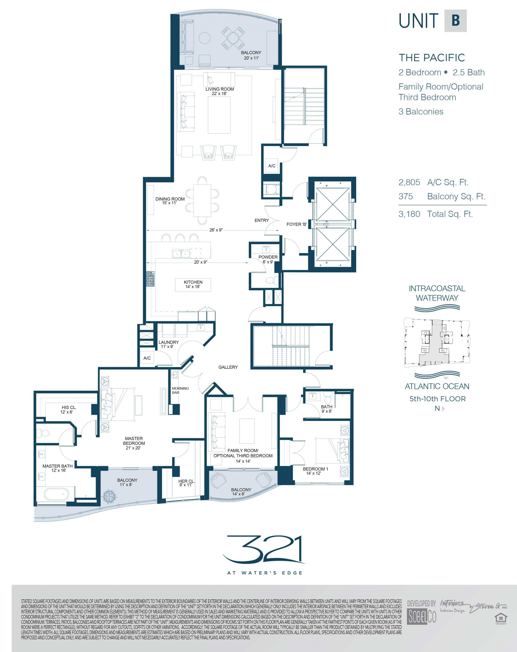 321 At Waters Edge Floor Plans Unit B