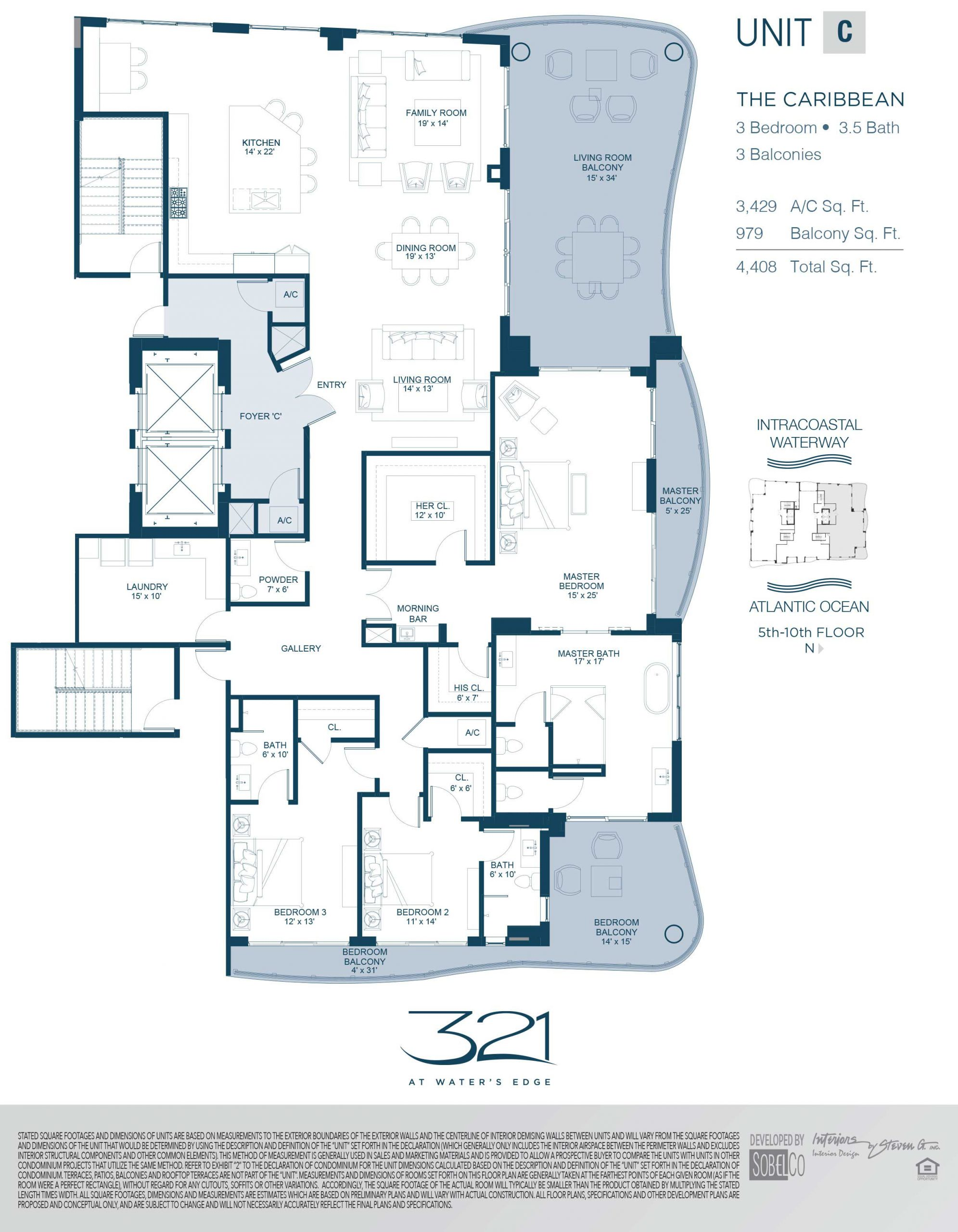 321 At Waters Edge Floor Plans Unit C