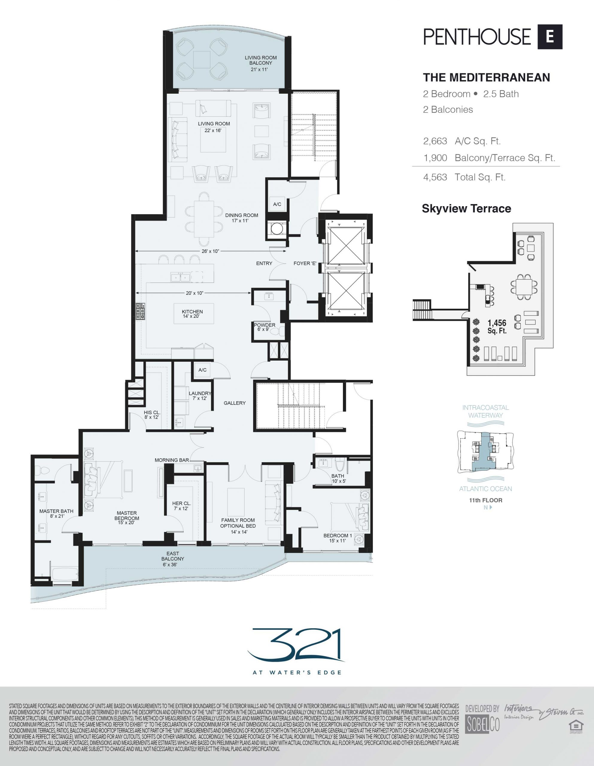 321 At Waters Edge Floor Plans Unit E