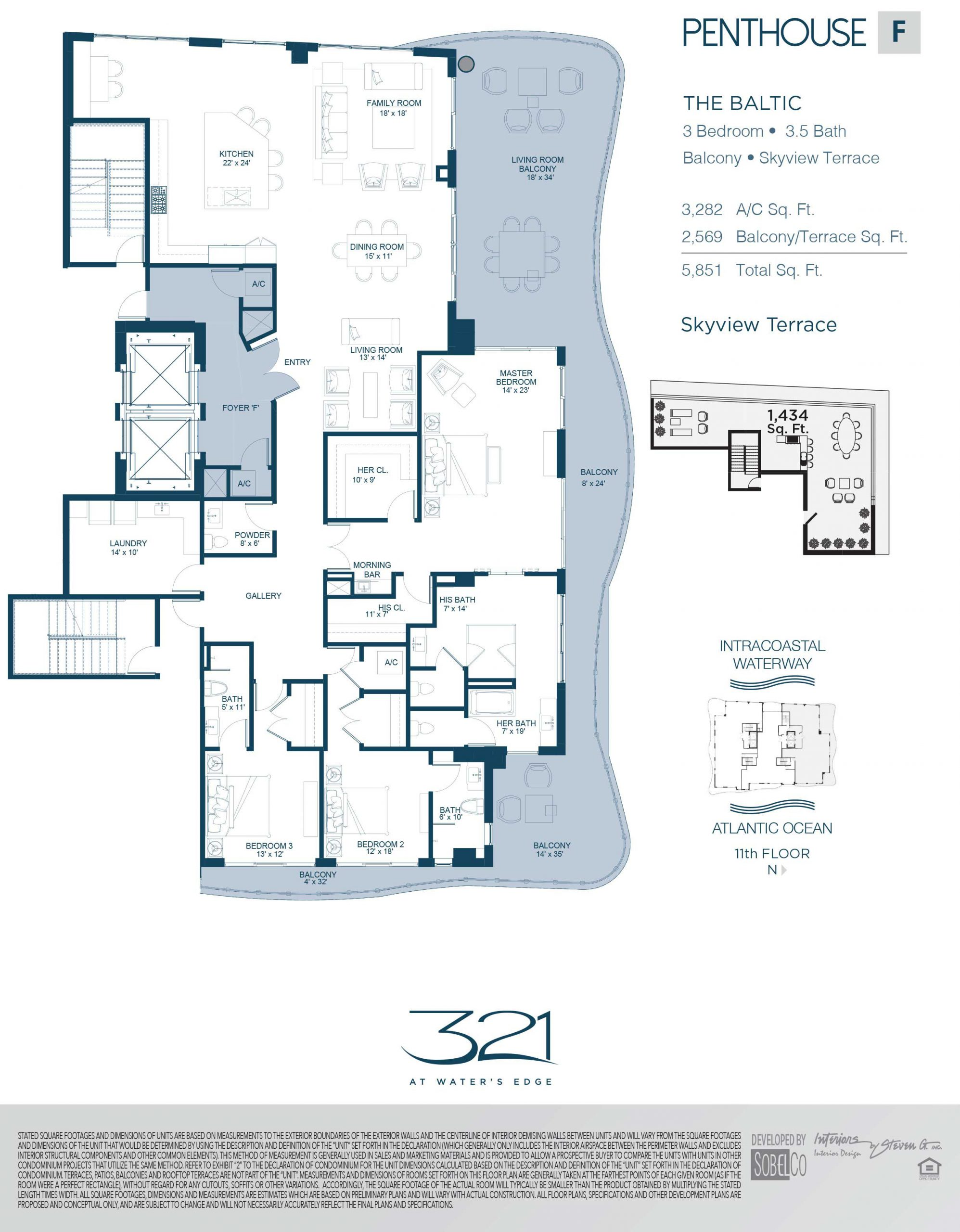 321 At Waters Edge Floor Plans Unit F