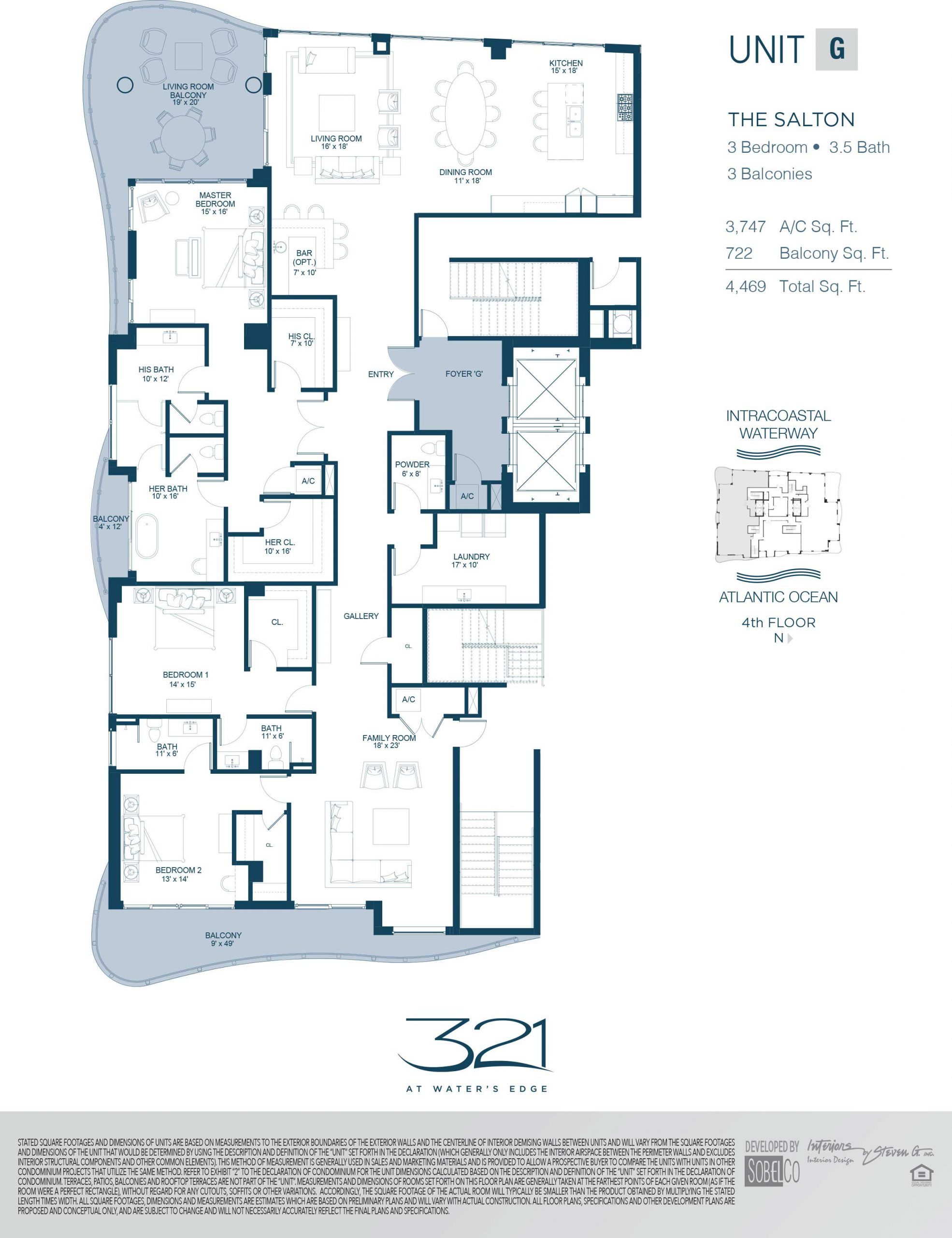 321 At Waters Edge Floor Plans Unit G