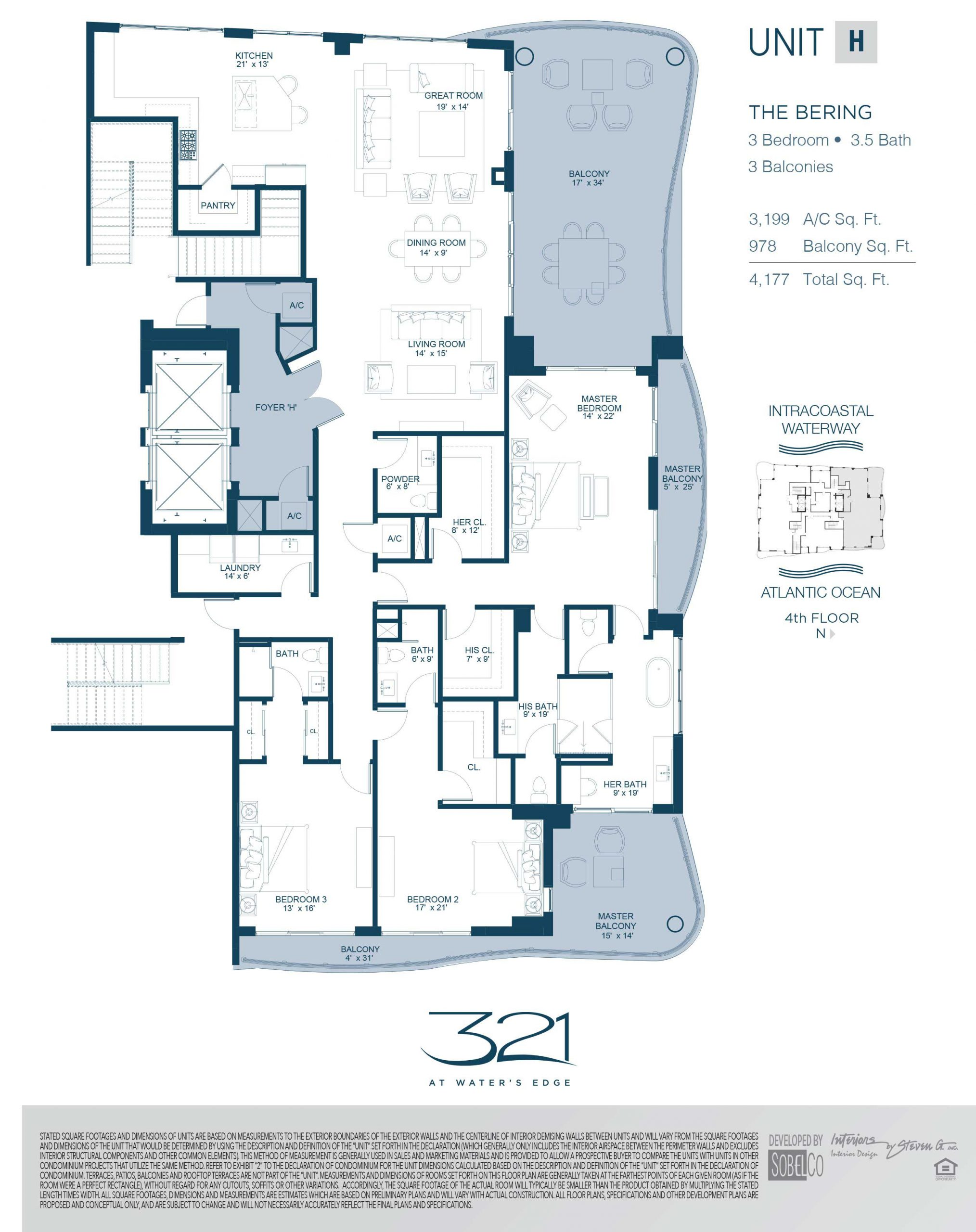 321 At Waters Edge Floor Plans Unit H