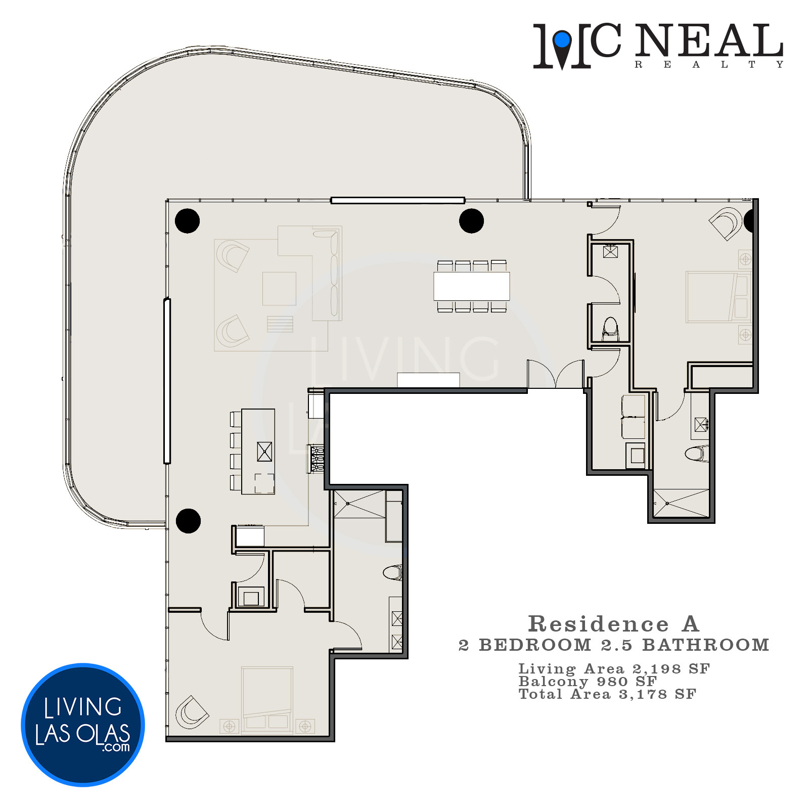 530 N Birch Rd Condos Floor Plan Unit A