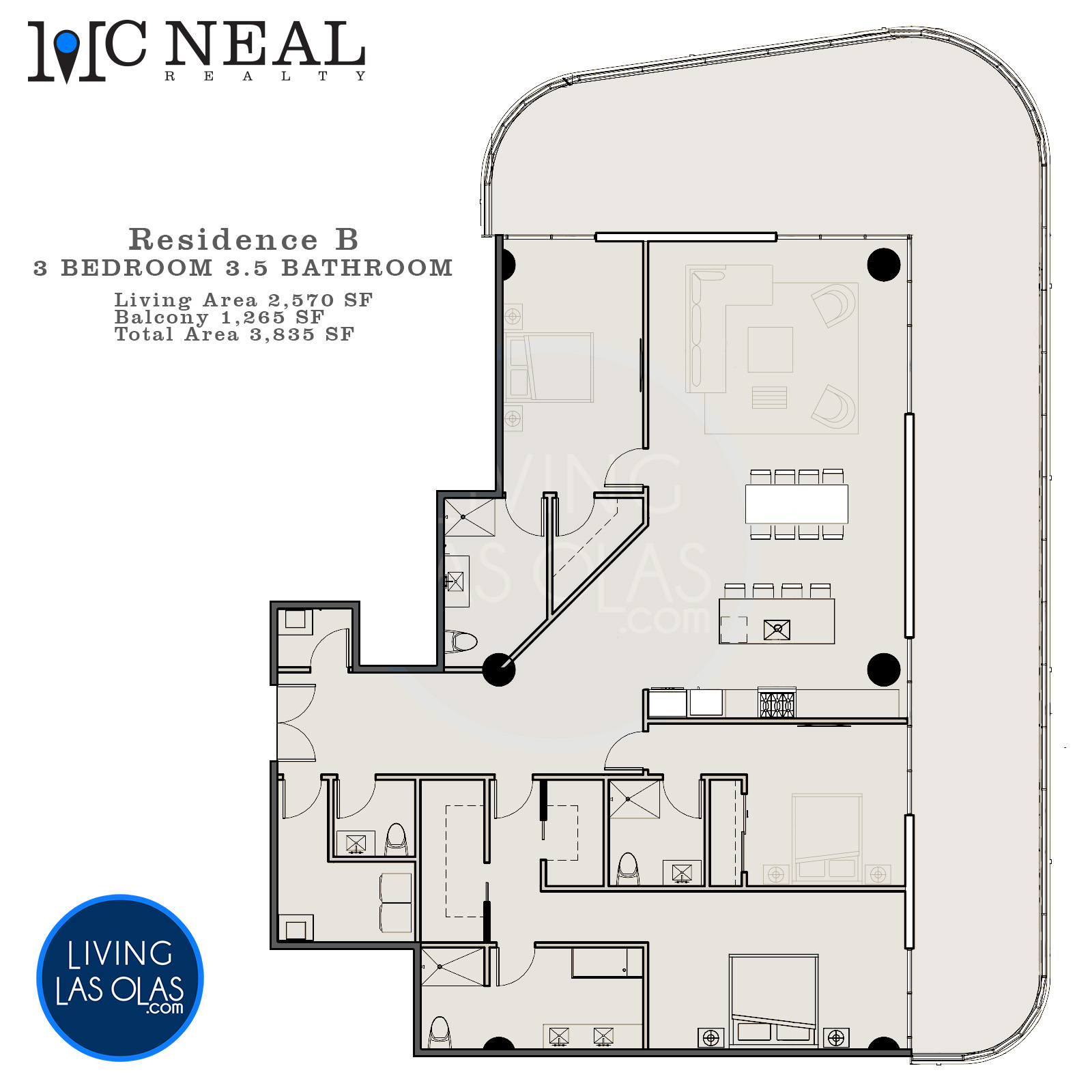 530 N Birch Rd Condos Floor Plan Unit B