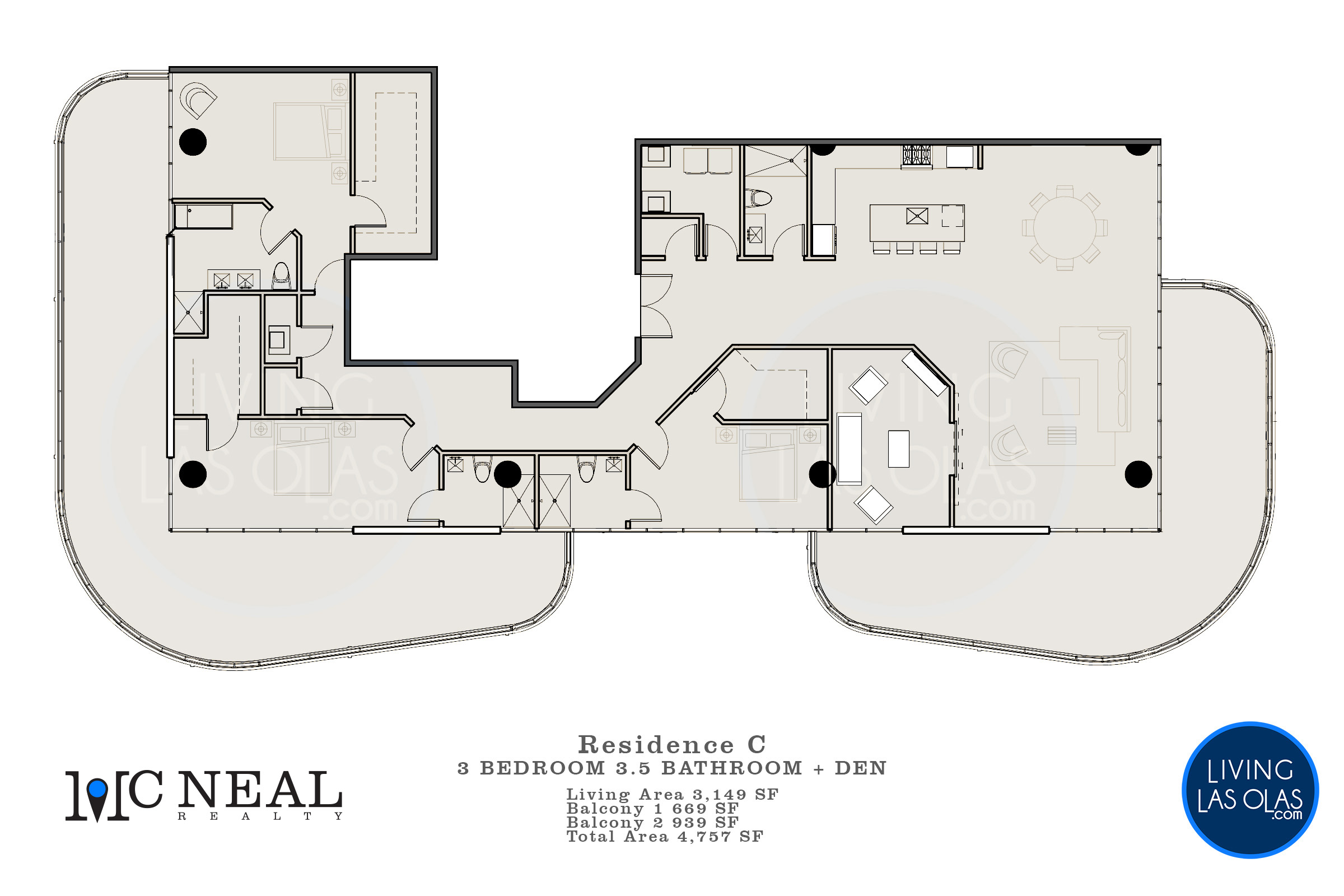 530 N Birch Rd Condos Floor Plan Unit C