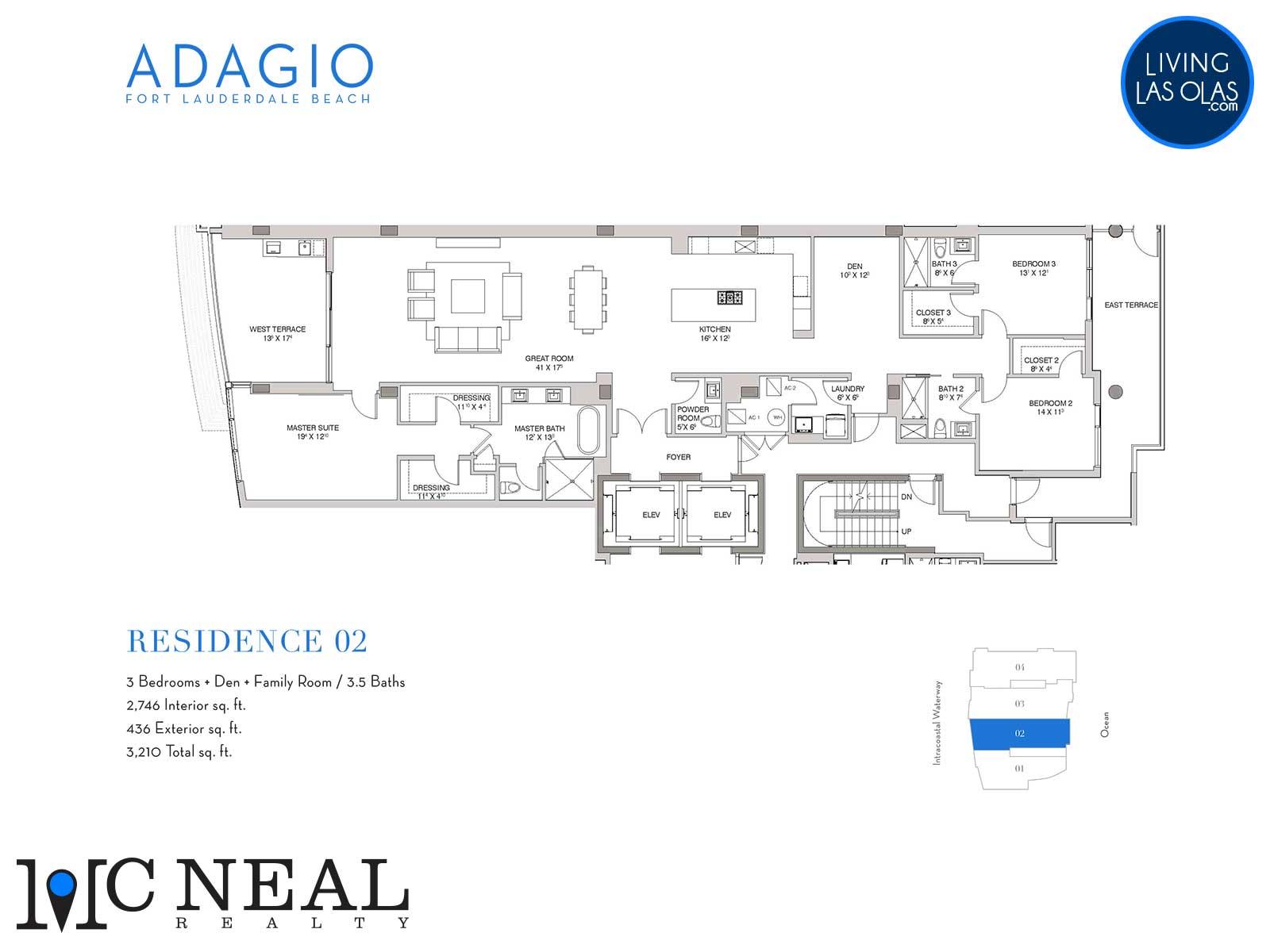 Adagio Fort Lauderdale Beach Condos Floor Plans Residence 02