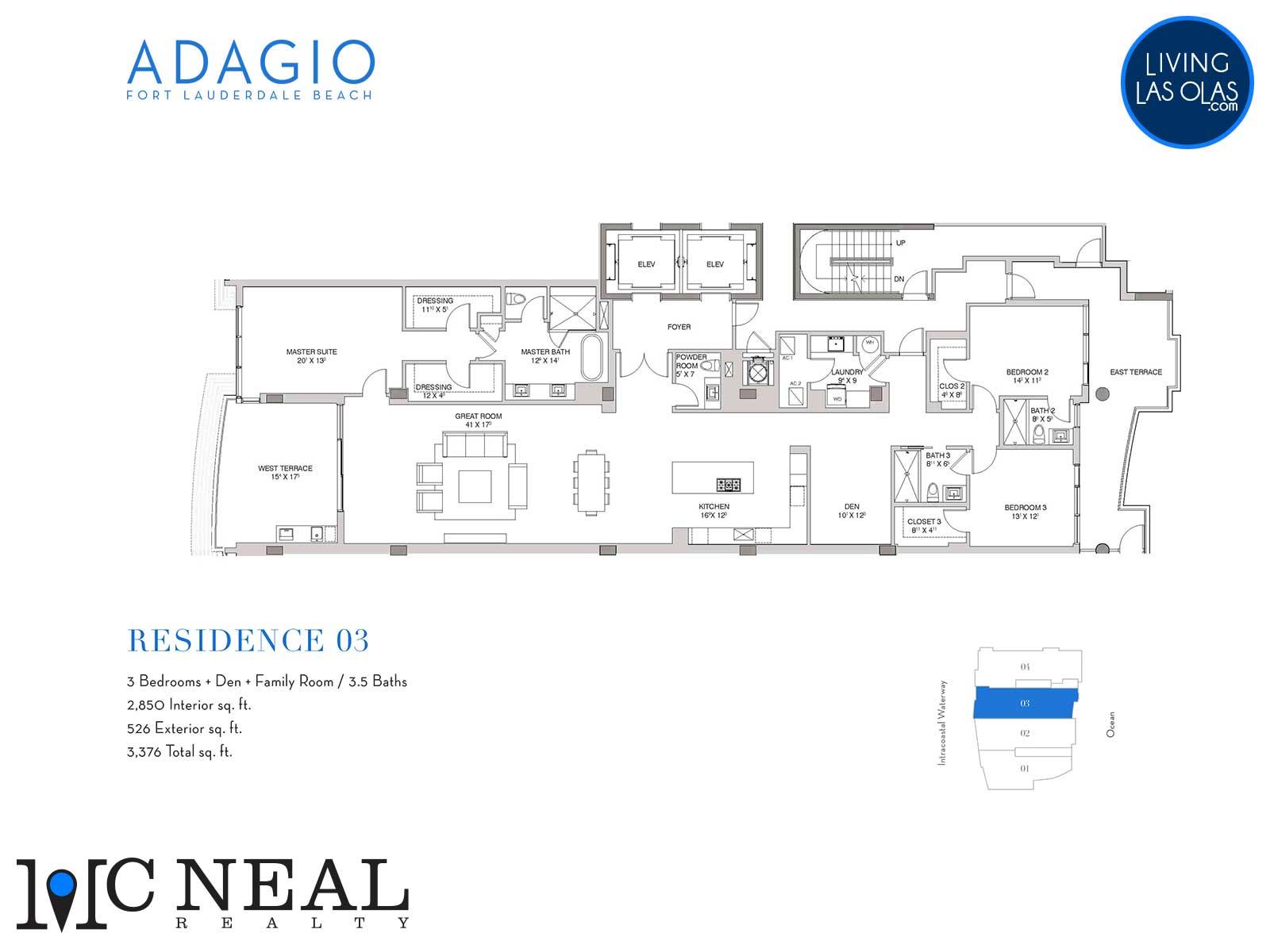 Adagio Fort Lauderdale Beach Condos Floor Plans Residence 03