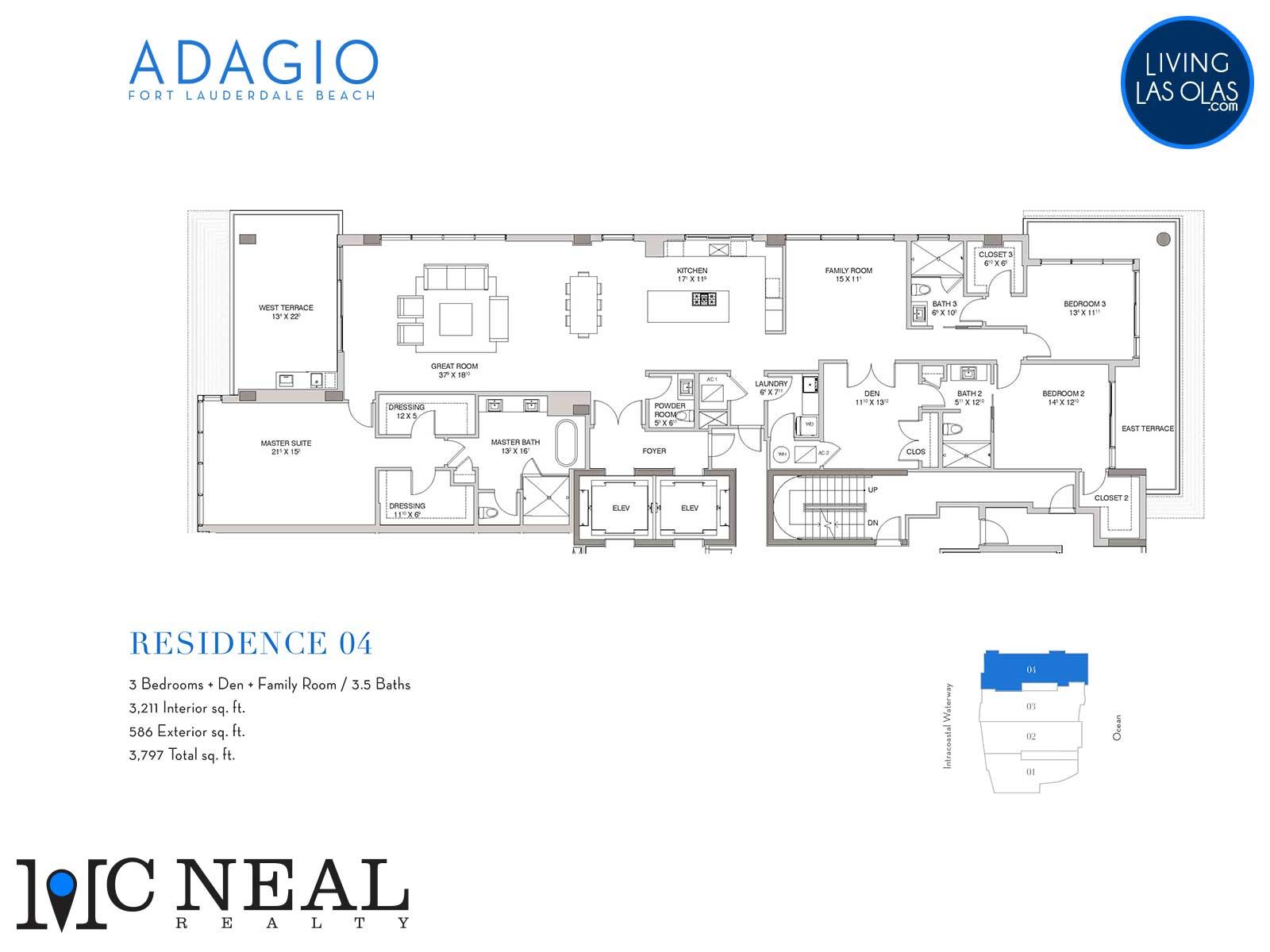 Adagio Fort Lauderdale Beach Condos Floor Plans Residence 04