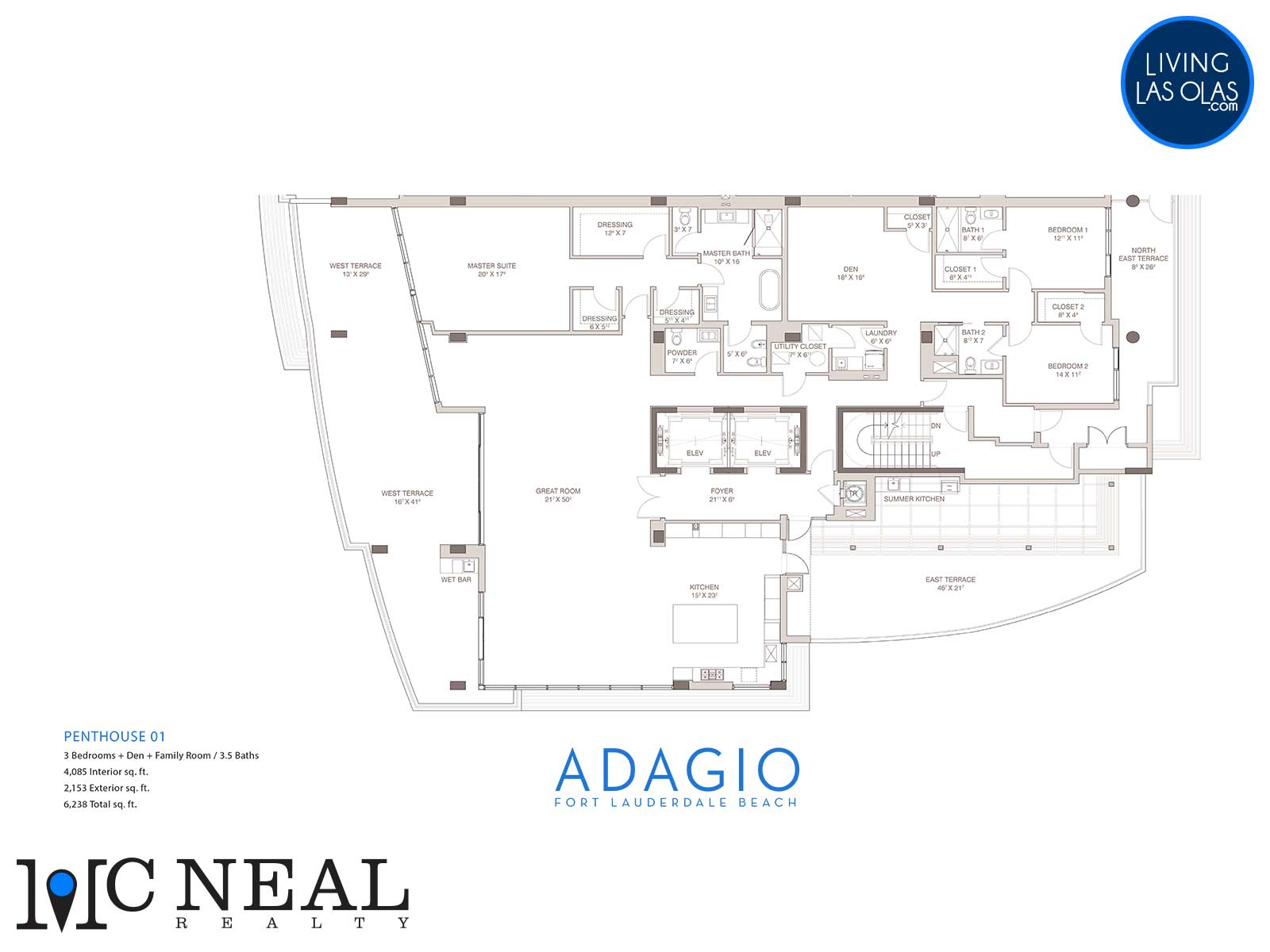 Adagio Fort Lauderdale Beach Condos Floor Plans Penthouse