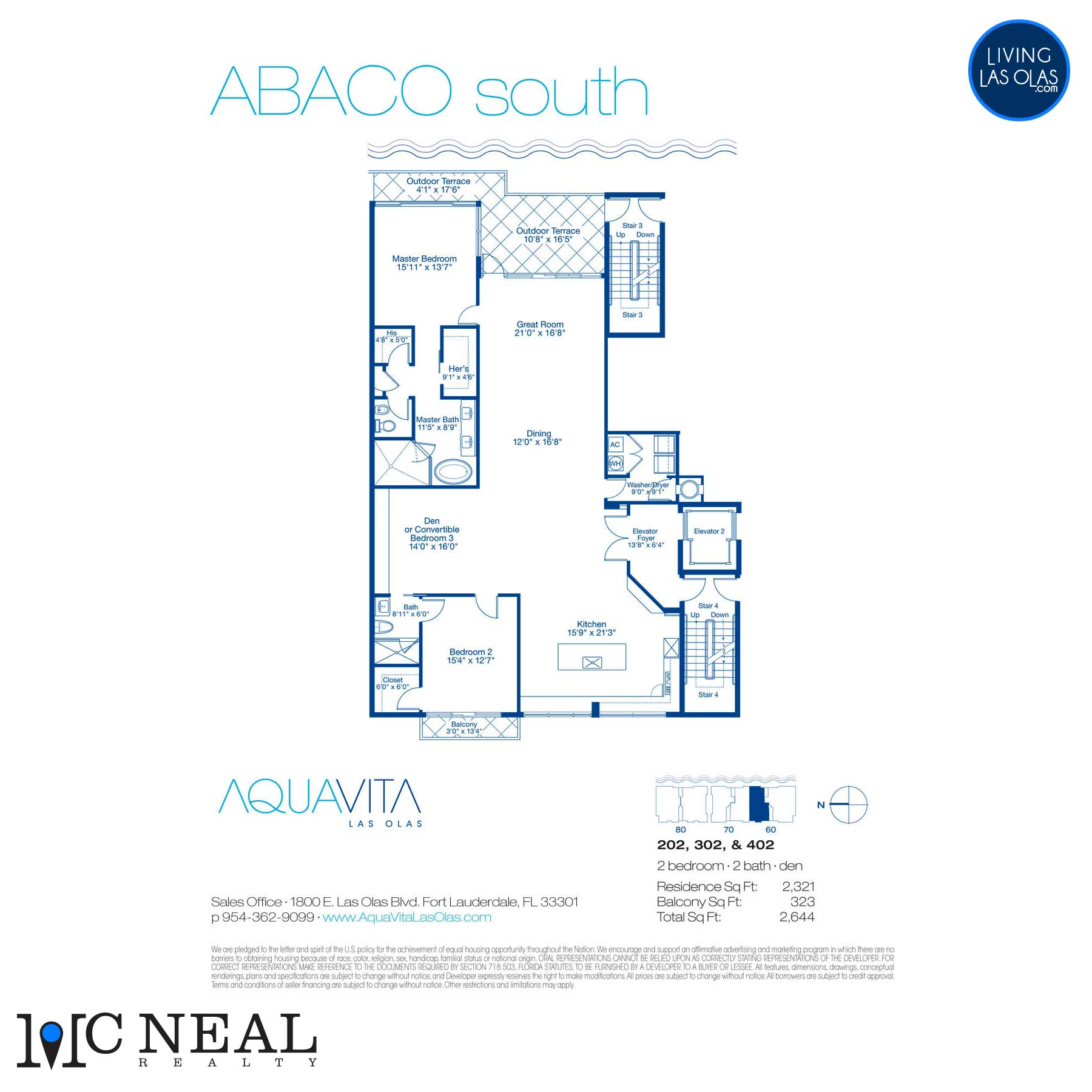 AquaVita Las Olas Floor Plans Abaco S
