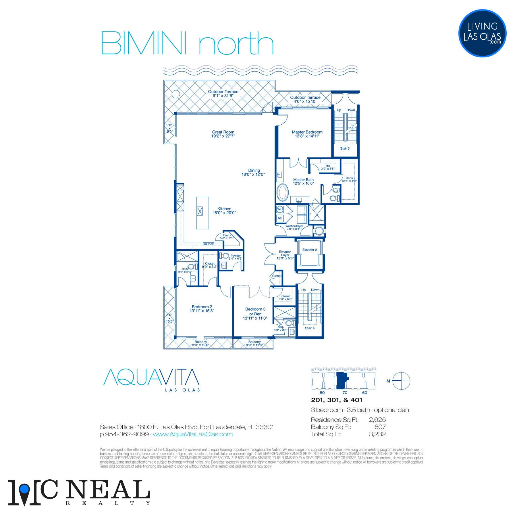 AquaVita Las Olas Floor Plans Bimini N