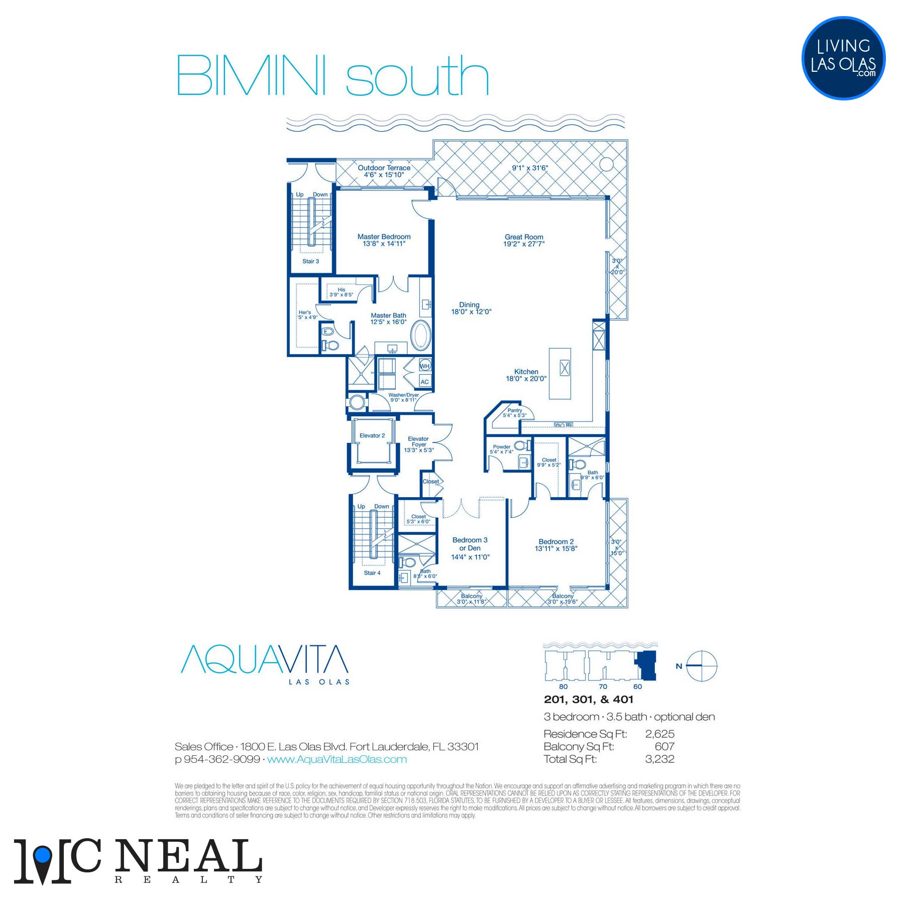AquaVita Las Olas Floor Plans Bimini S