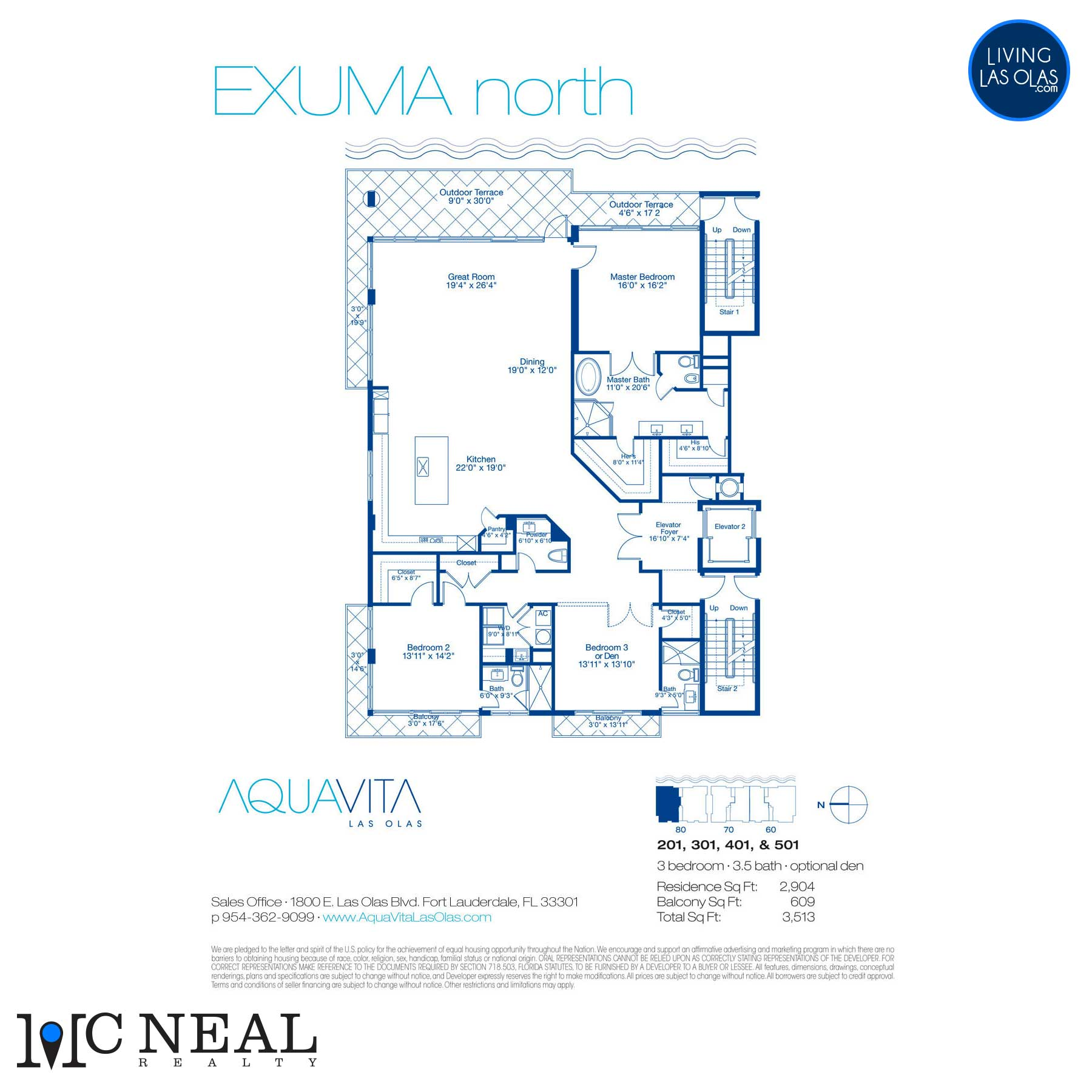 AquaVita Las Olas Floor Plans Exuma N