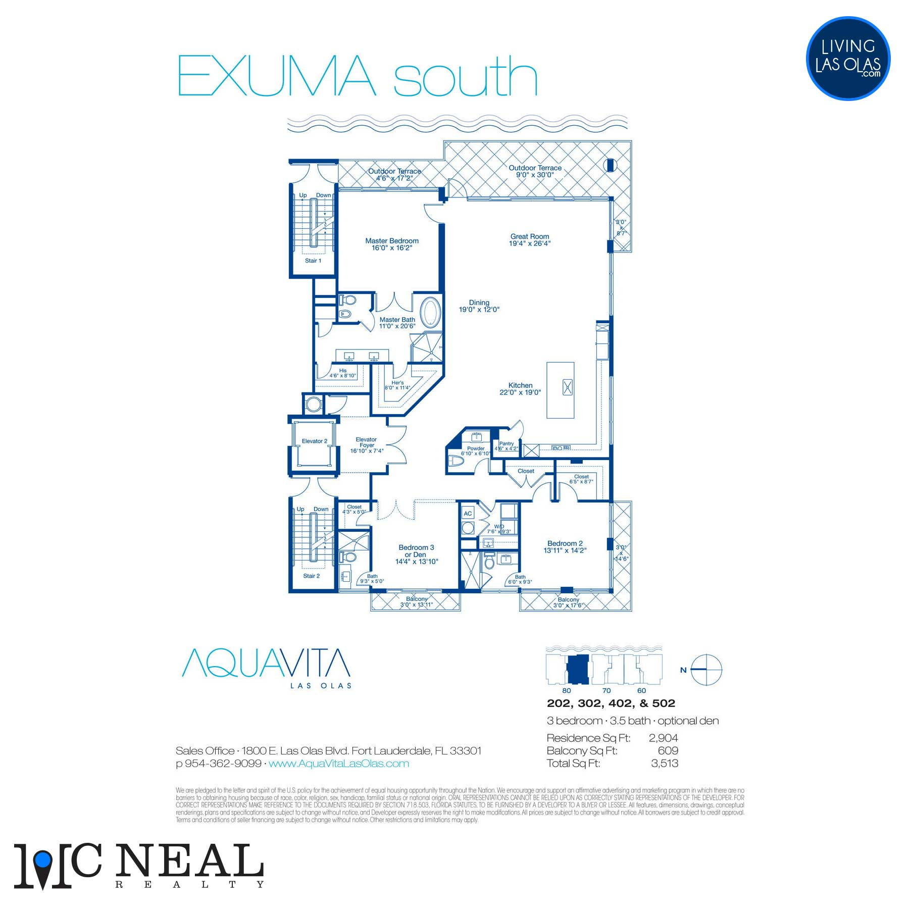 AquaVita Las Olas Floor Plans Exuma S