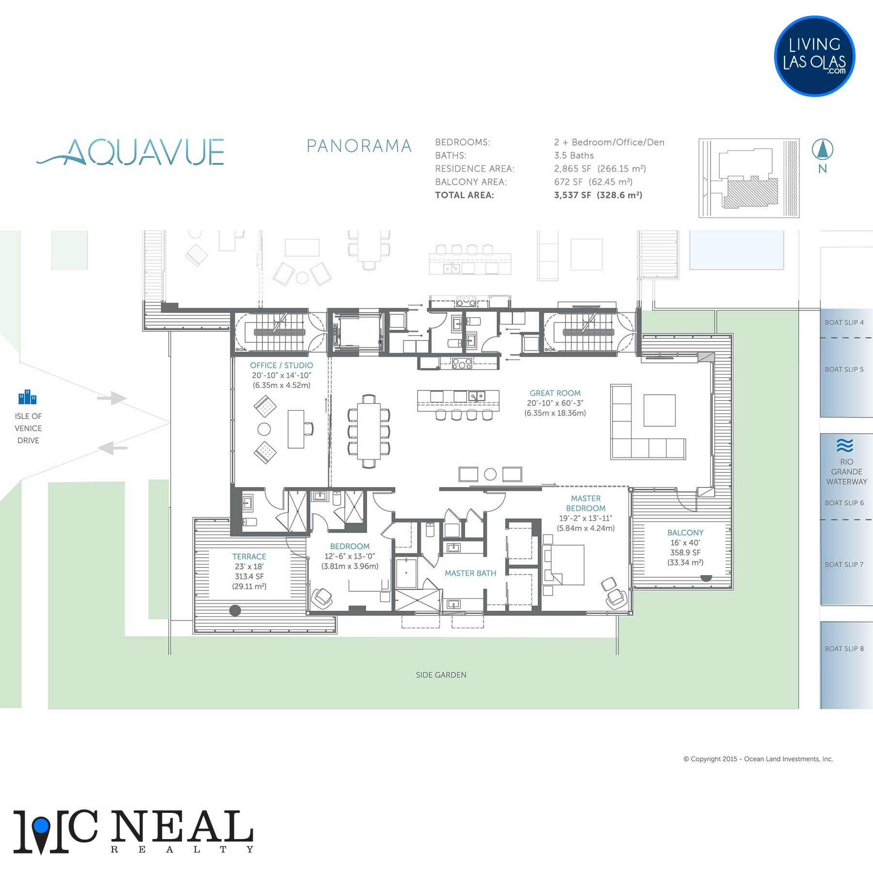 AquaVue Las Olas Floor Plans Panorama