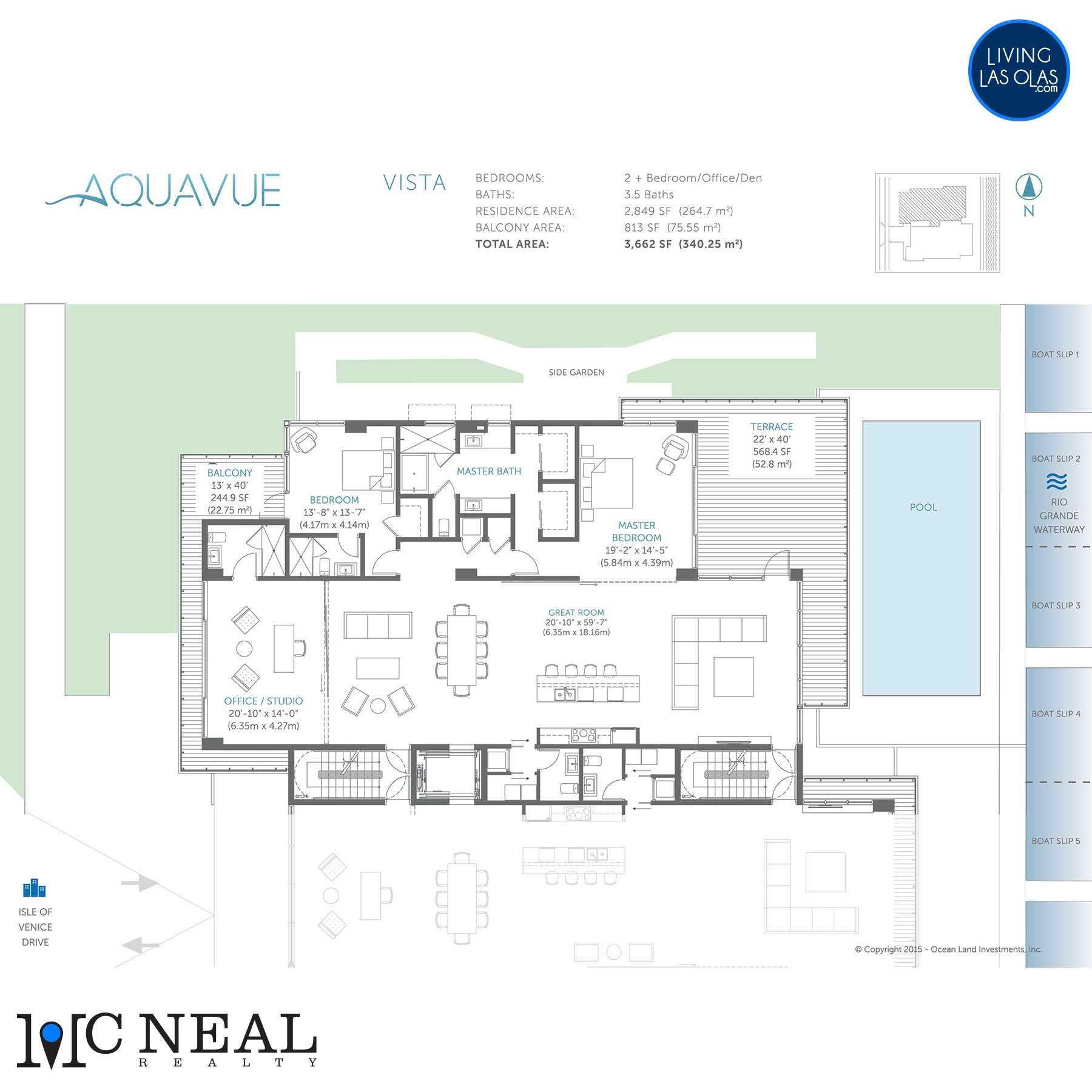 AquaVue Las Olas Floor Plans Vista