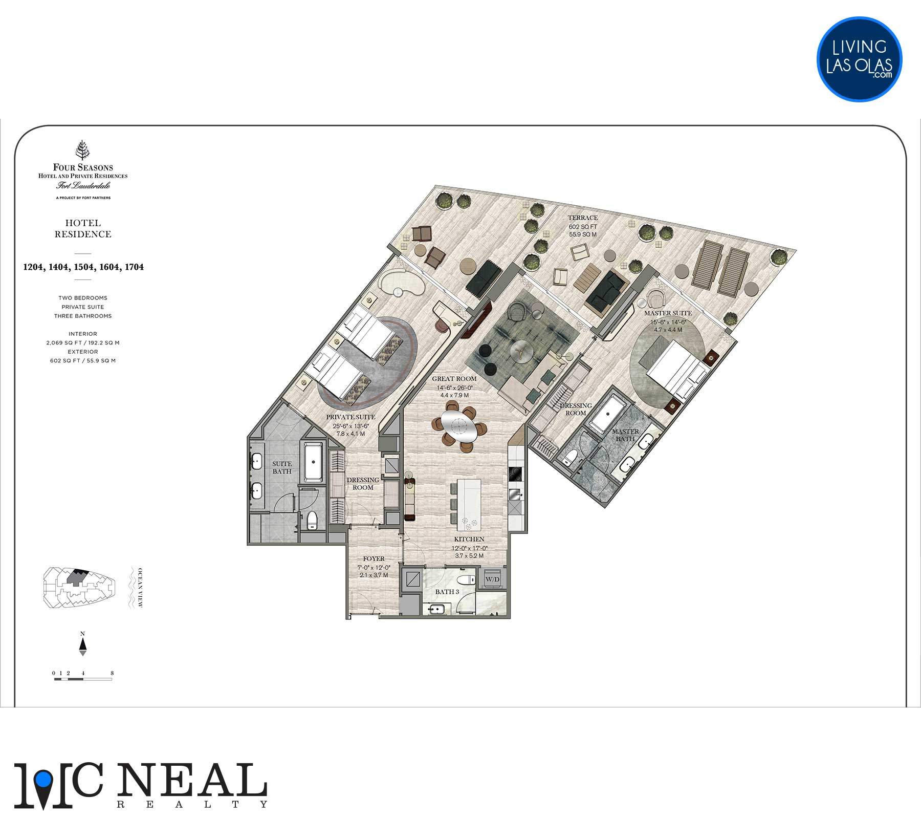 Four Seasons Hotel Residences Floor Plan 1204-1704