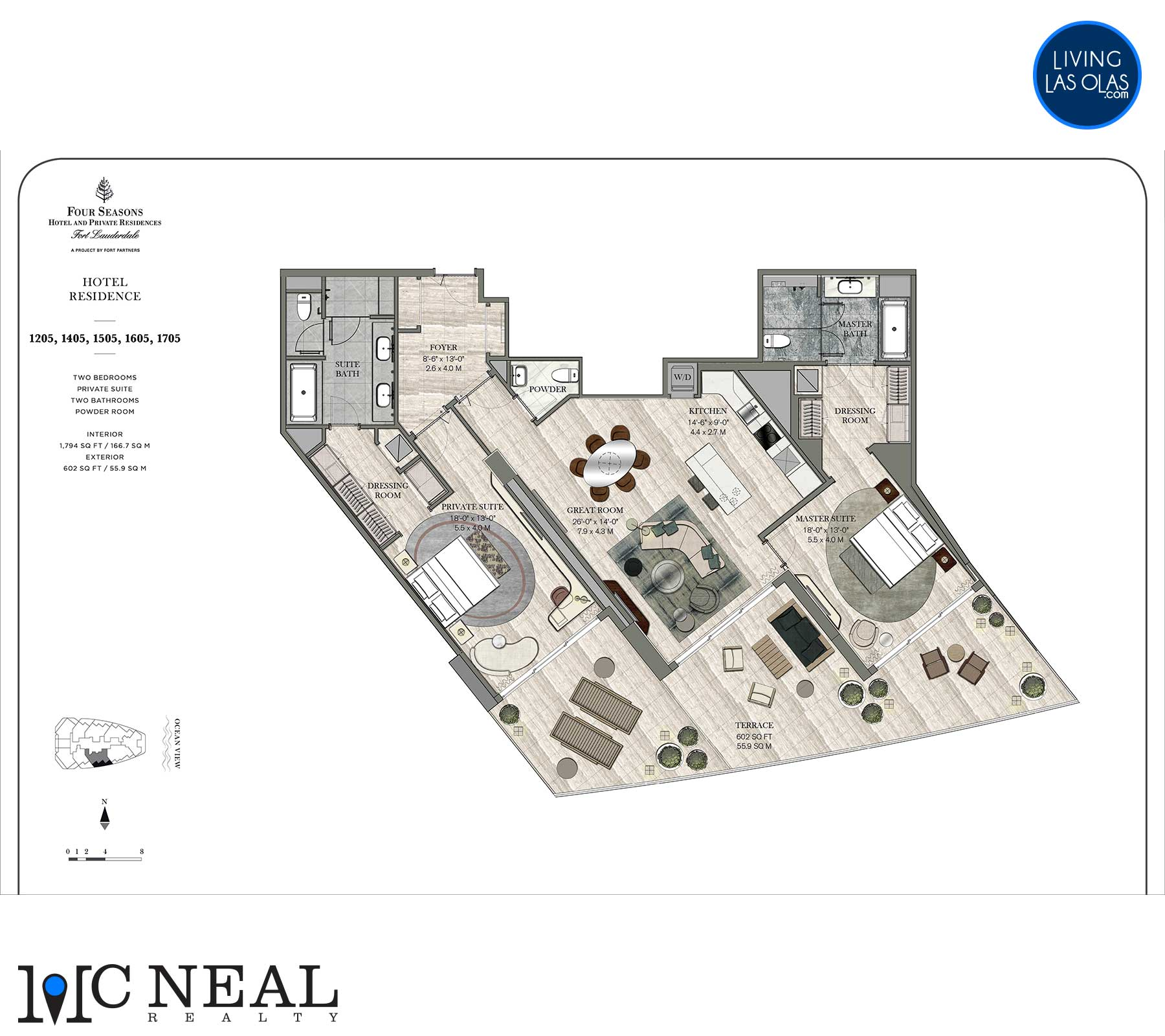 Four Seasons Hotel Residences Floor Plan 1205-1705