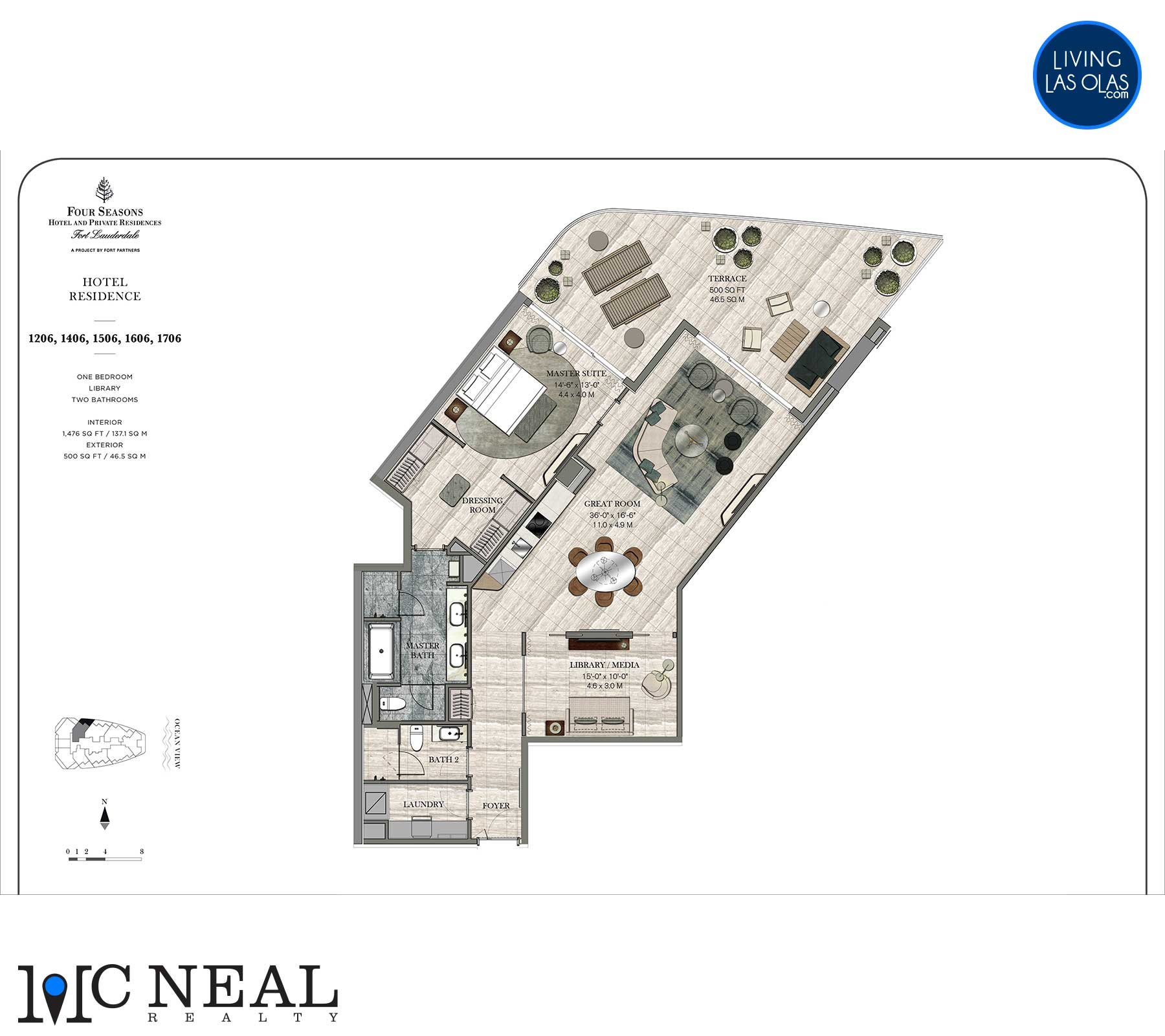 Four Seasons Hotel Residences Floor Plan 1206-1706