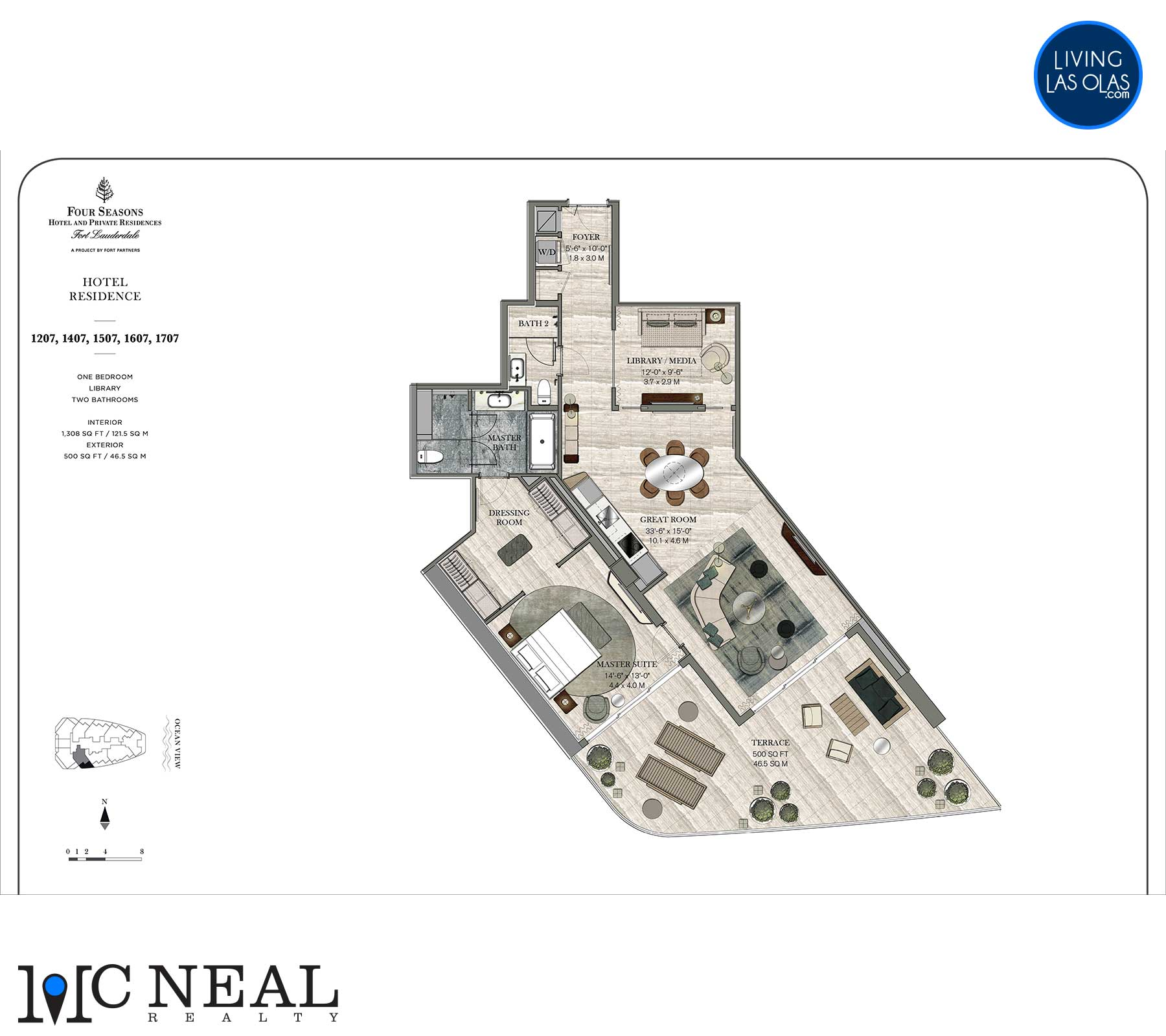Four Seasons Hotel Residences Floor Plan 1207-1707