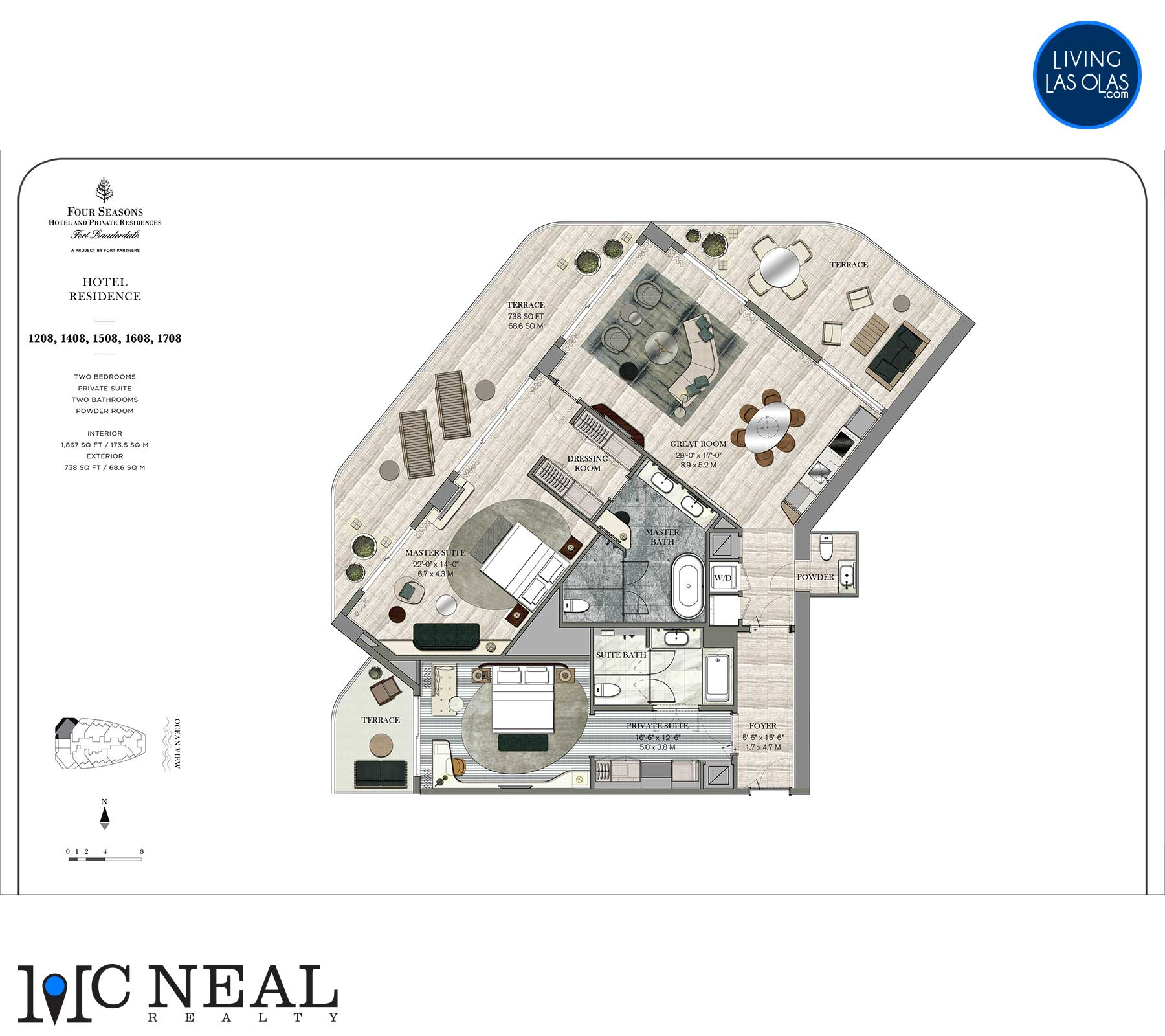 Four Seasons Hotel Residences Floor Plan 1208-1708