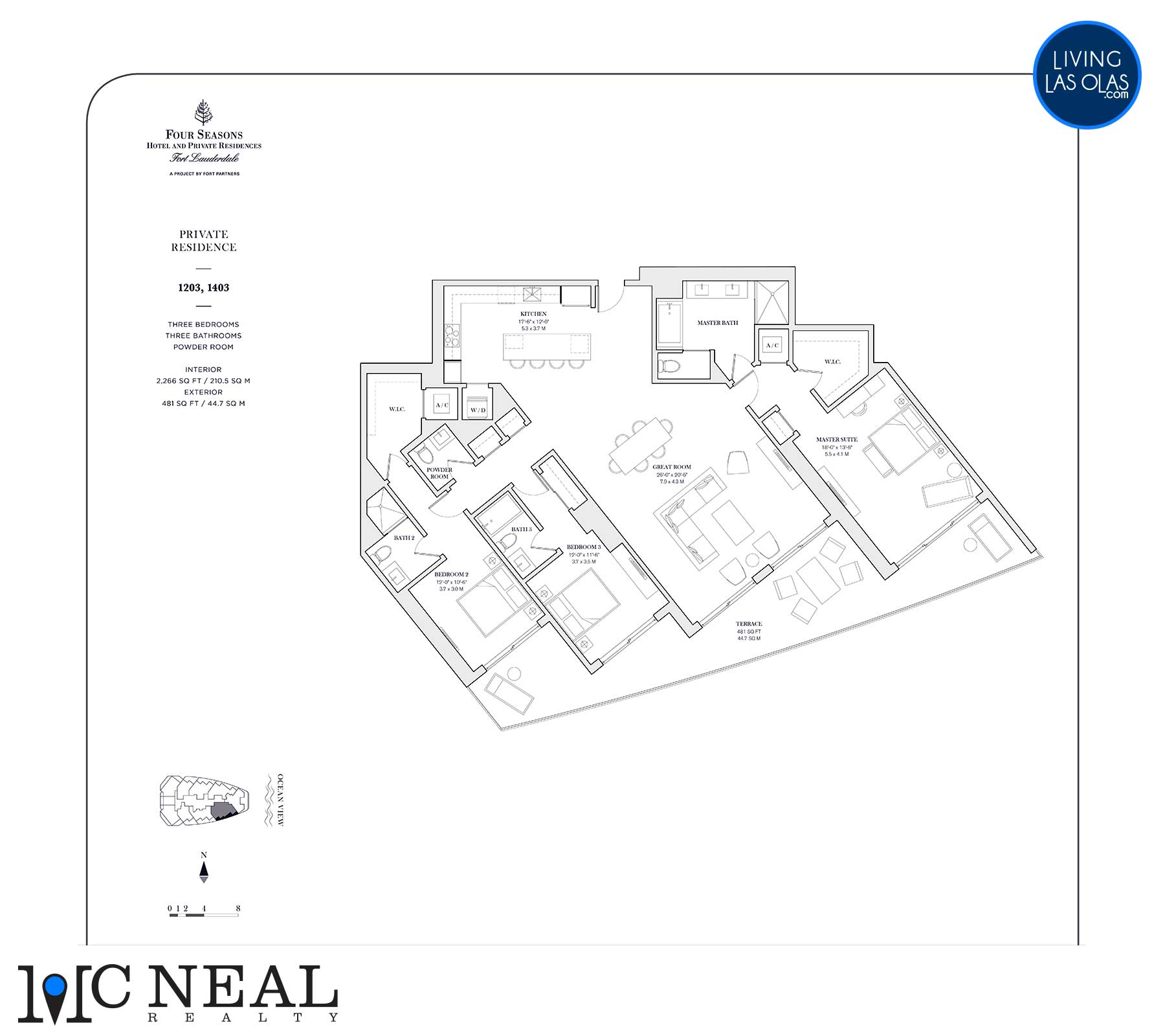Four Seasons Private Residences Floor Plan 1203-1403
