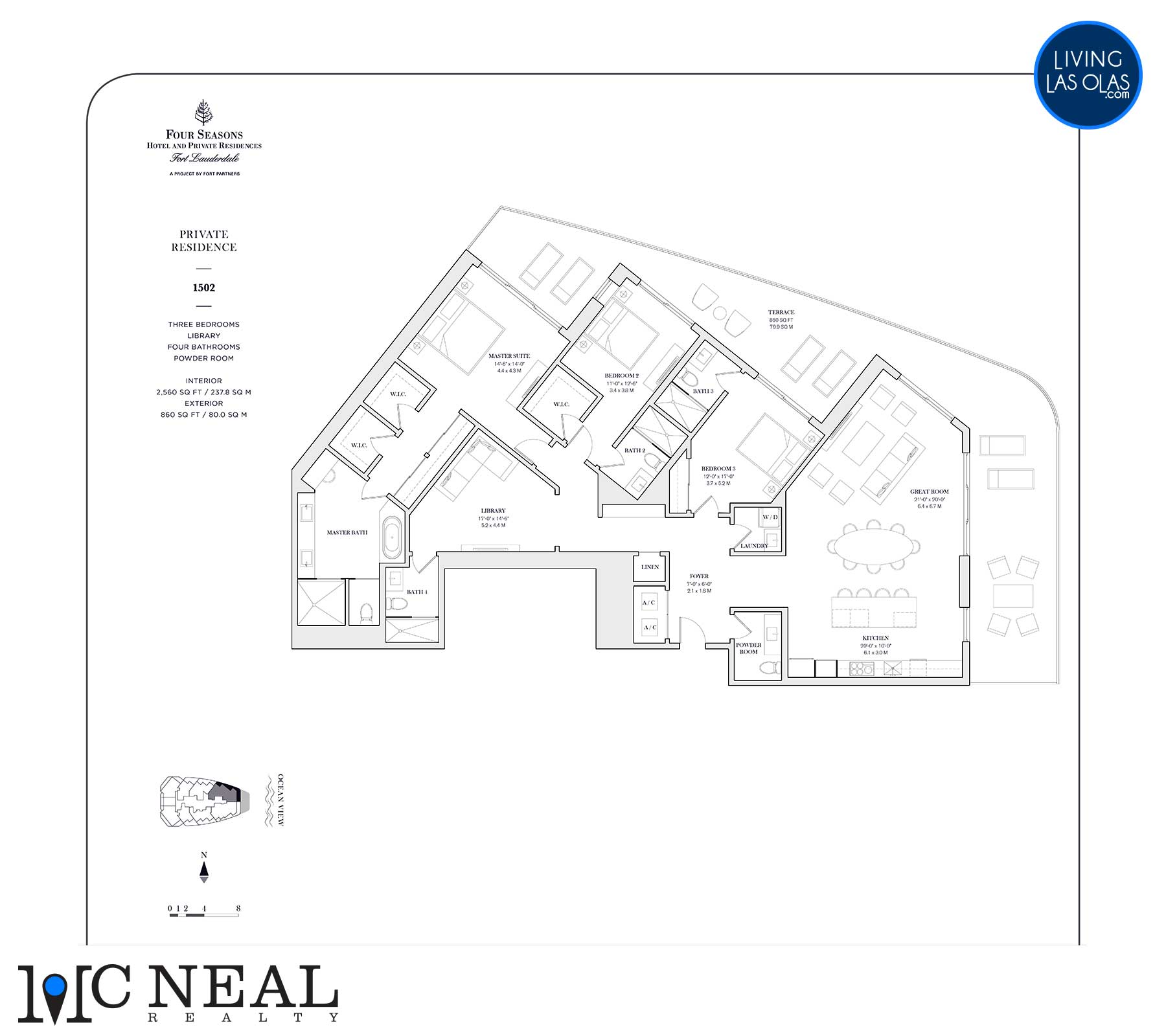Four Seasons Private Residences Floor Plan 1502