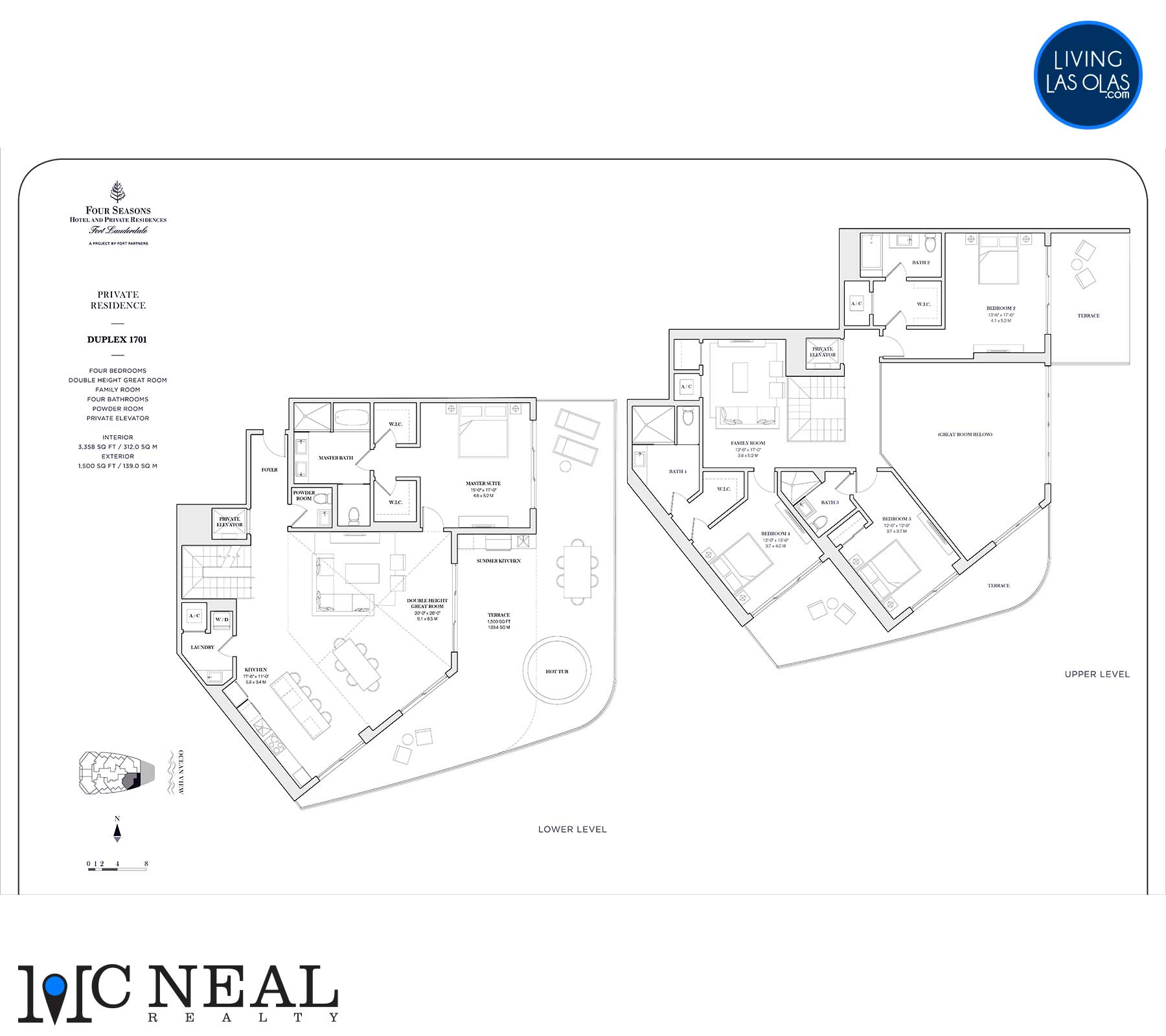 Four Seasons Private Residences Floor Plan 1701