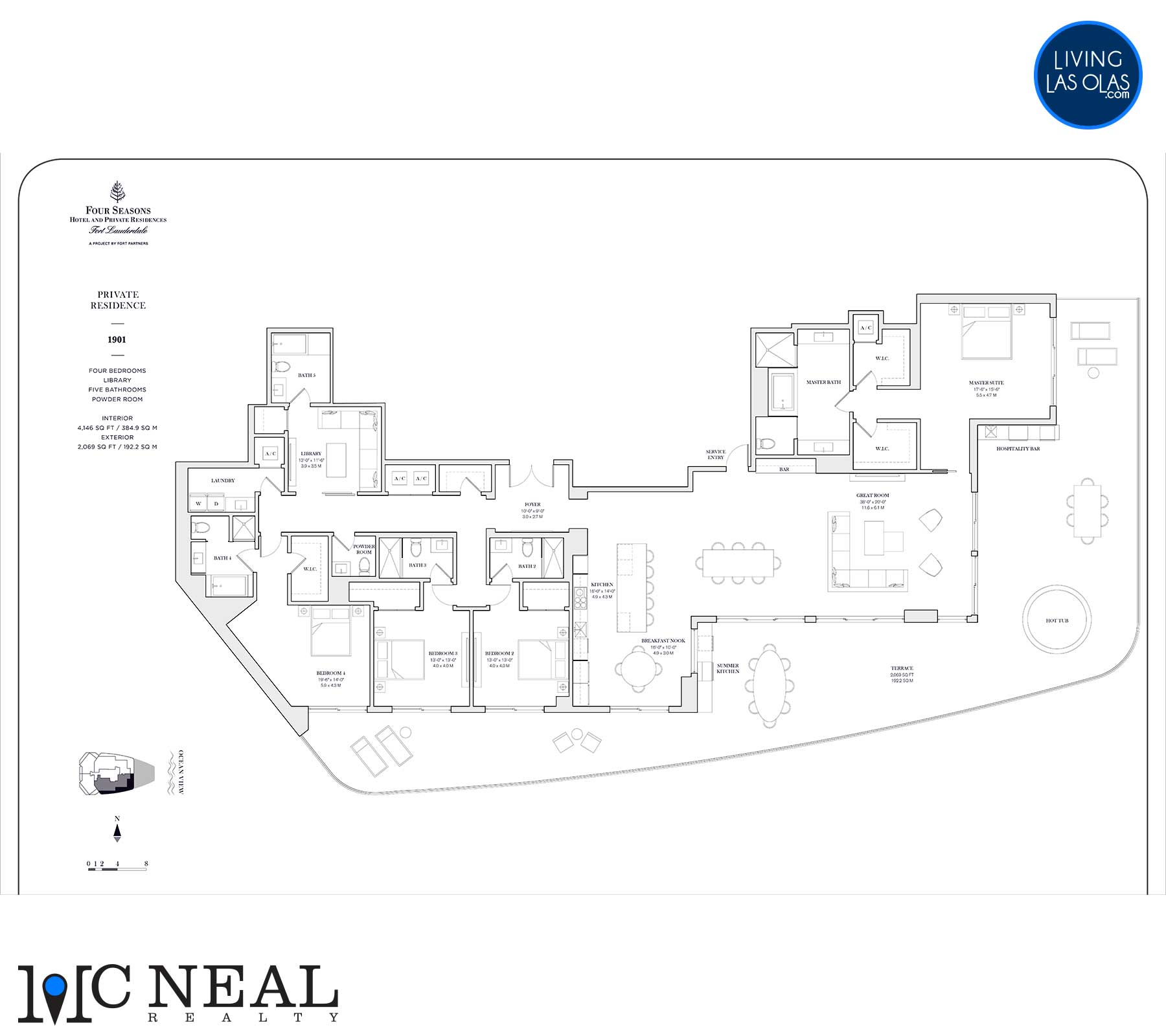 Four Seasons Private Residences Floor Plan 1901