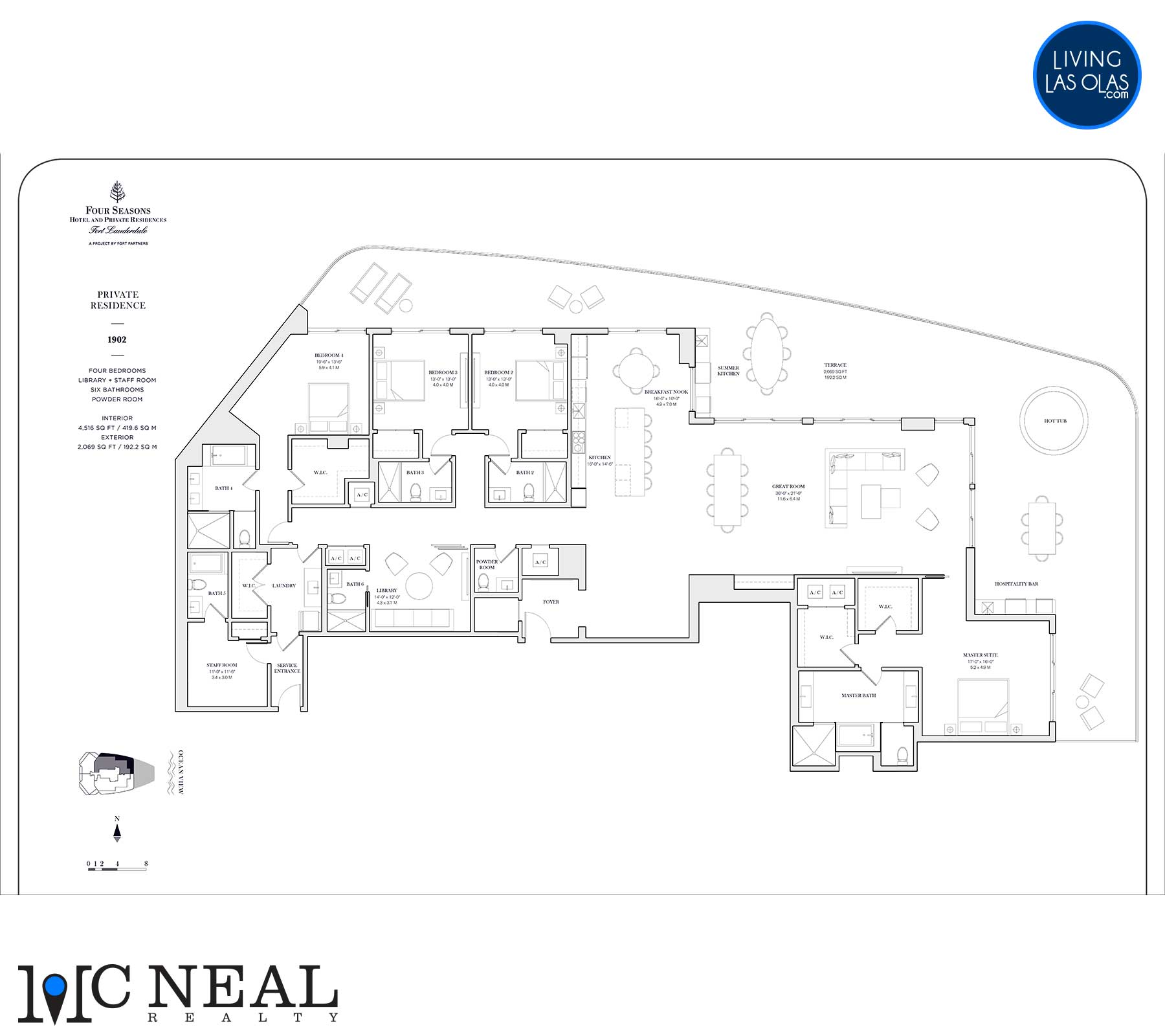 Four Seasons Private Residences Floor Plan 1902
