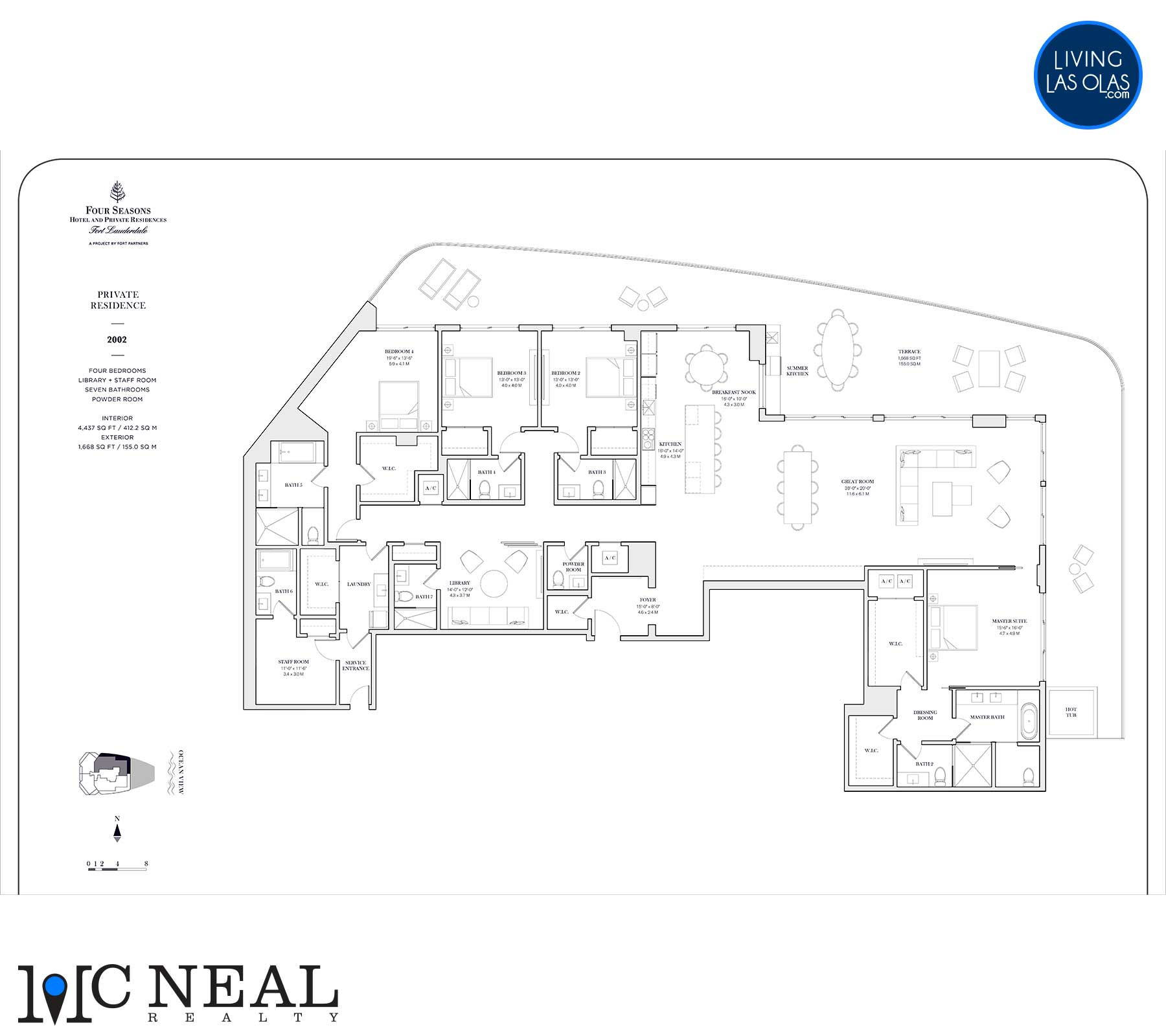 Four Seasons Private Residences Floor Plan 2002