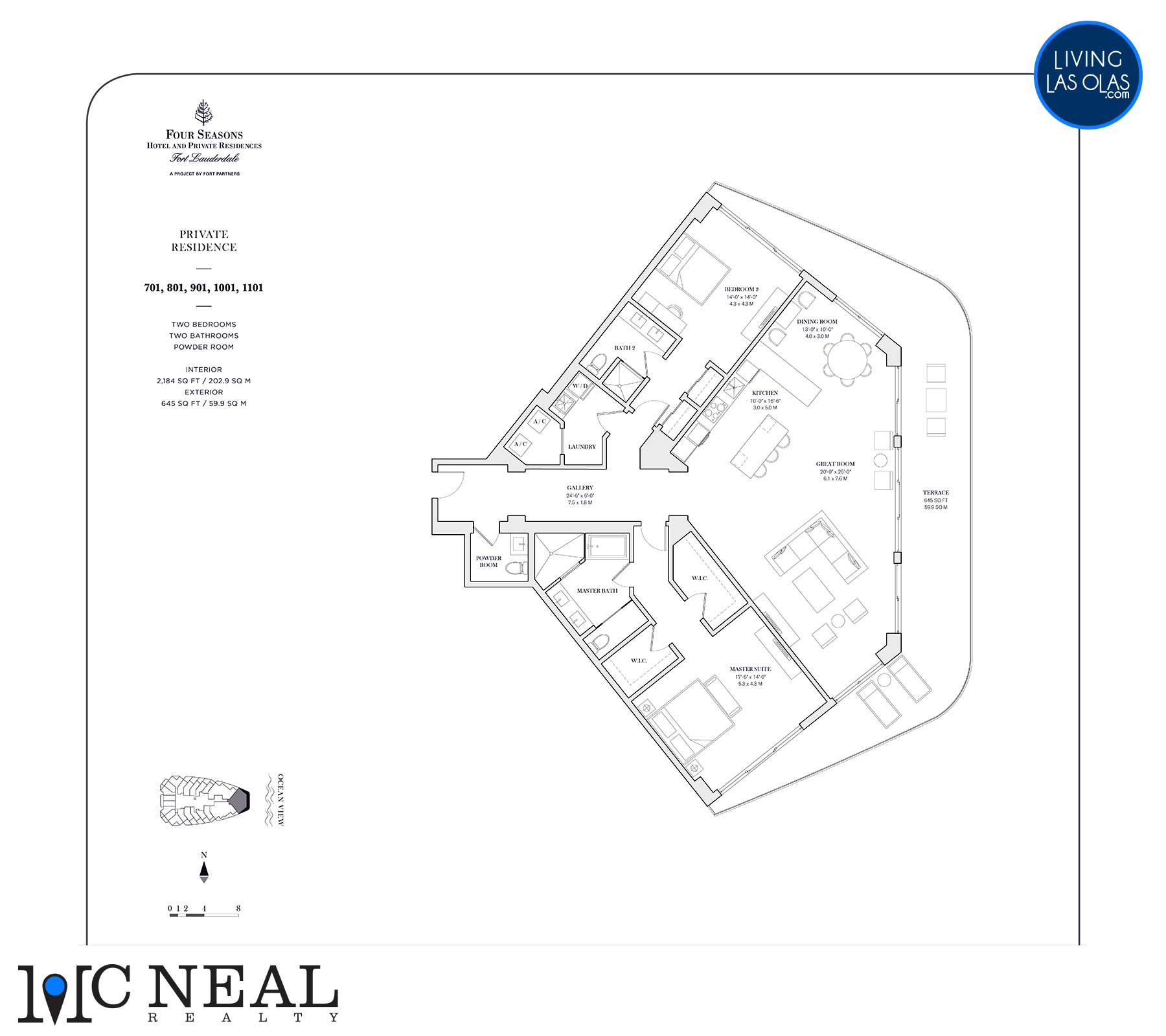 Four Seasons Private Residences Floor Plan 701-1101