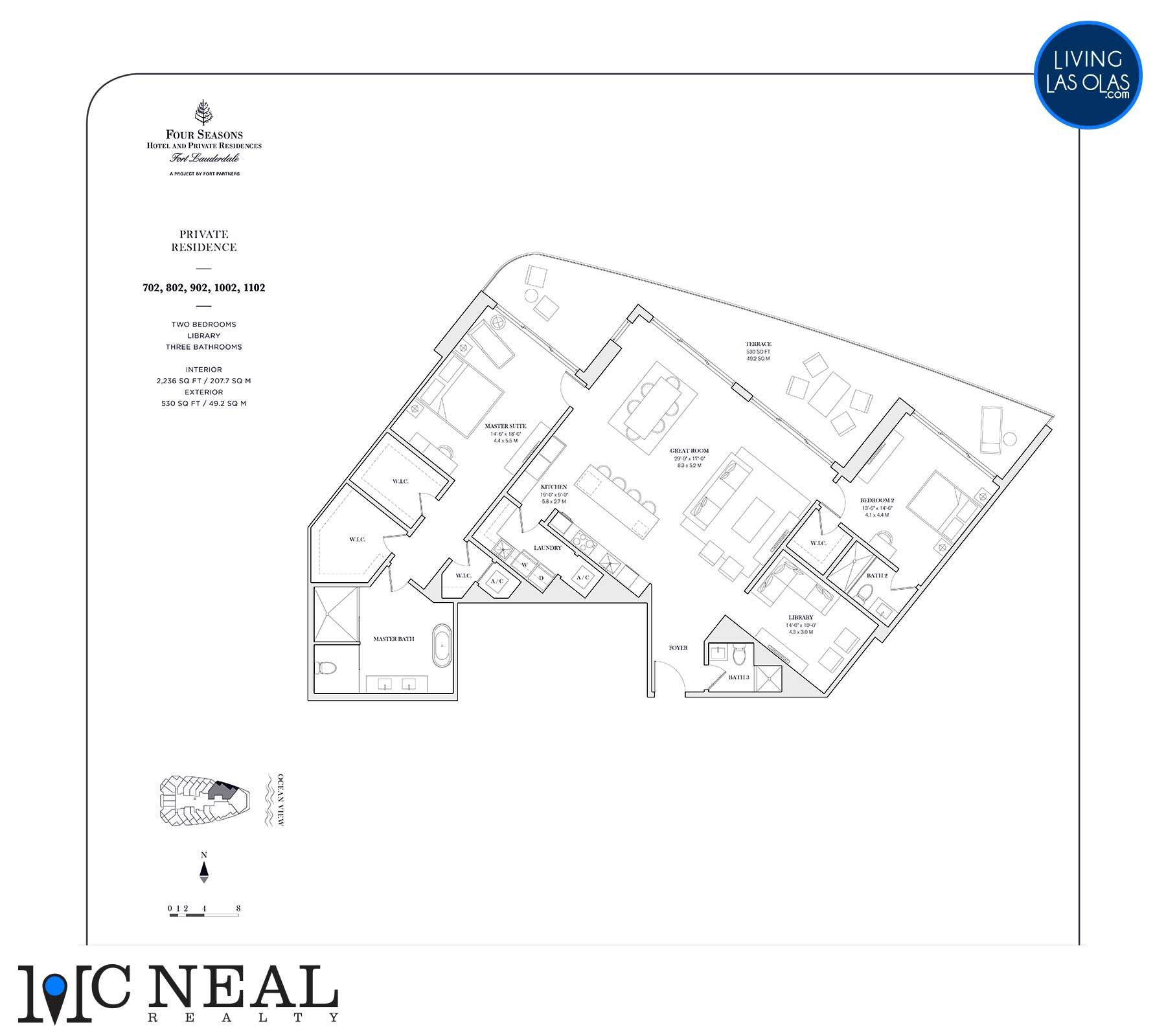 Four Seasons Private Residences Floor Plan 702-1102