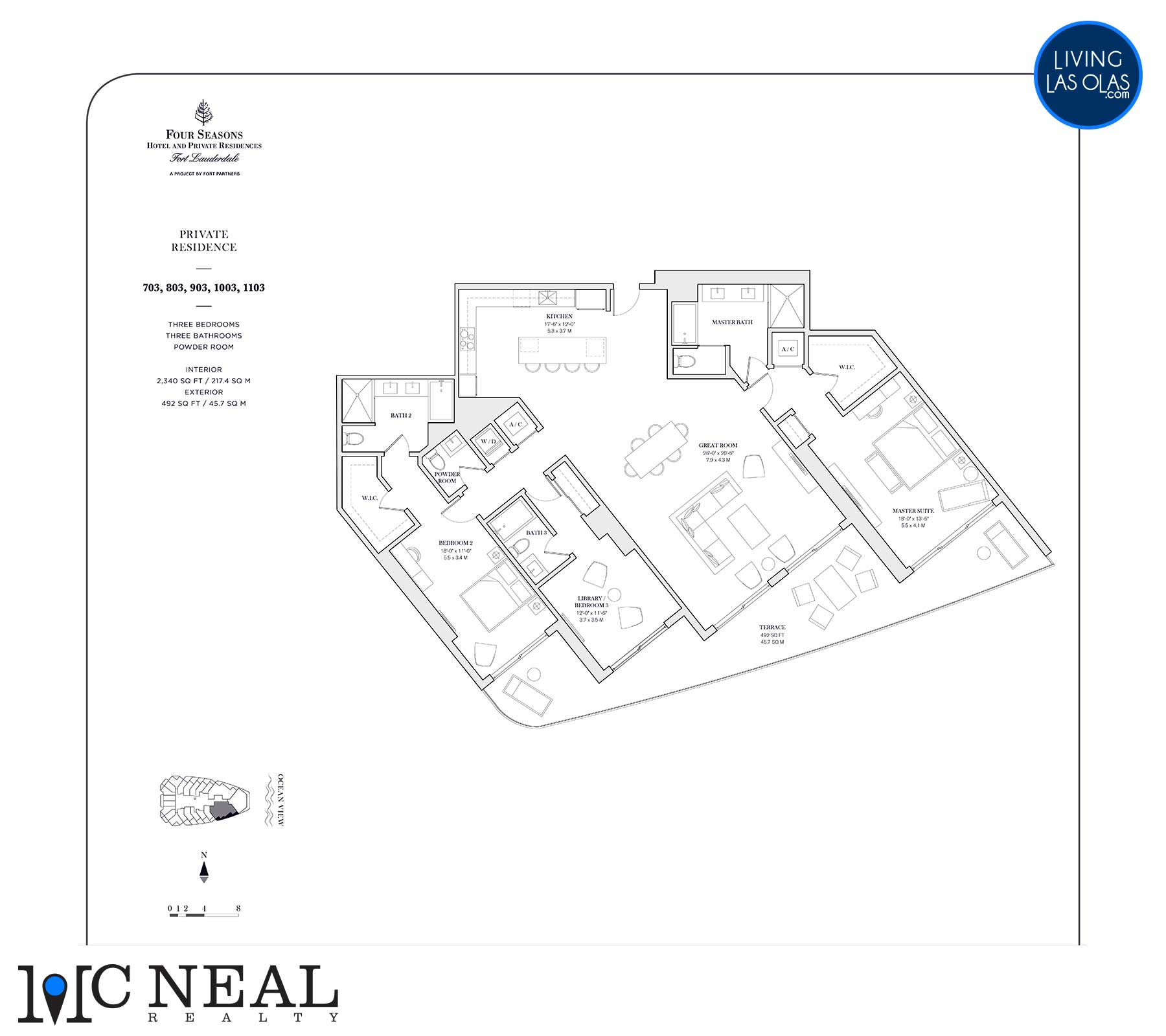 Four Seasons Private Residences Floor Plan 703-1103