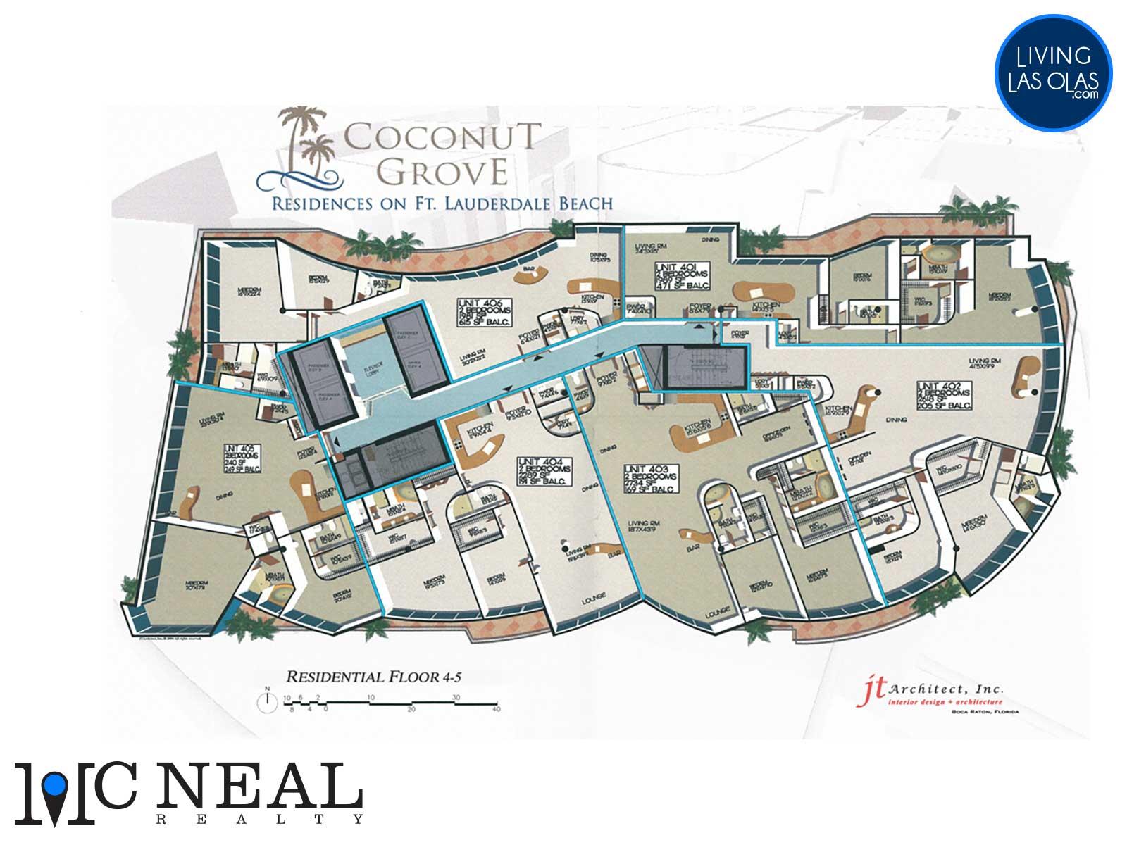 Coconut Grove Residences Fort Lauderdale Condos Floor Plan Keyplan