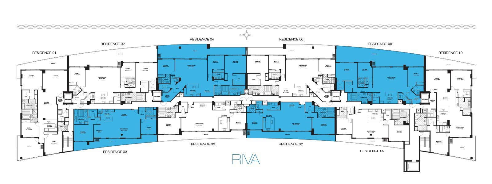Riva Condos Fort Lauderdale Floor Plans Key SM