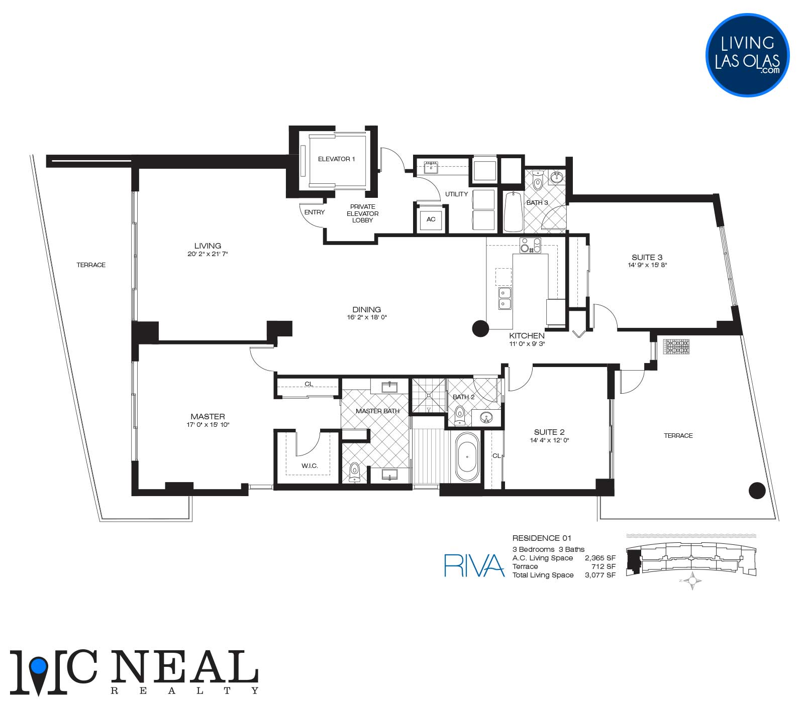 Riva Condos Fort Lauderdale Floor Plans Residence 01