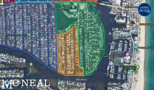 Riviera Isles Neighborhood Boundries